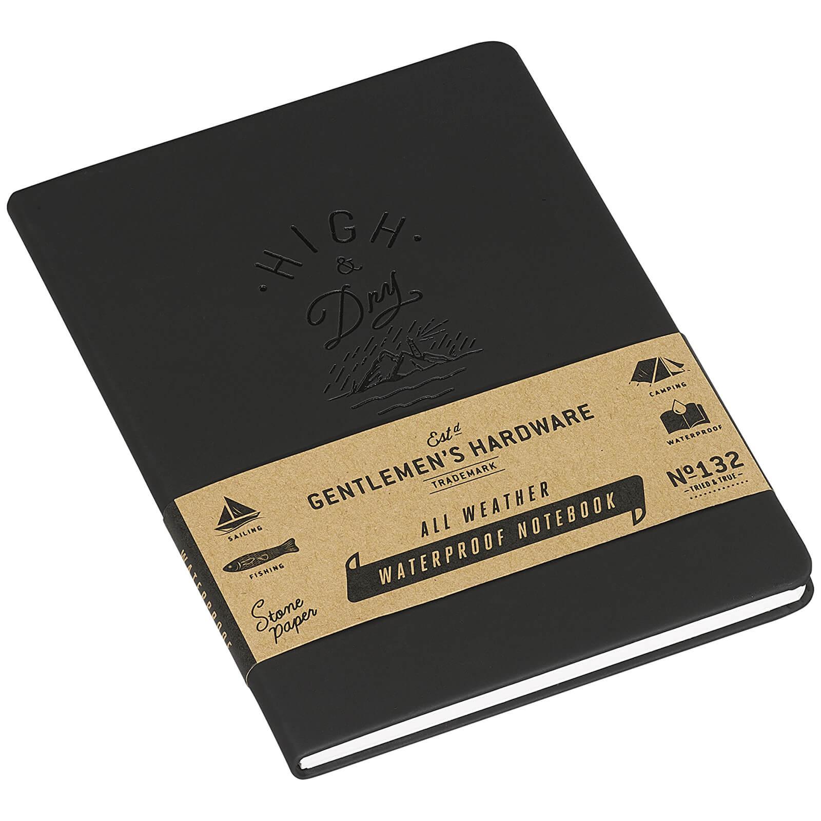 Gentlemen's Hardware Waterproof Notebook - Black Gentlemen's Hardware Waterproof Notebook - Black