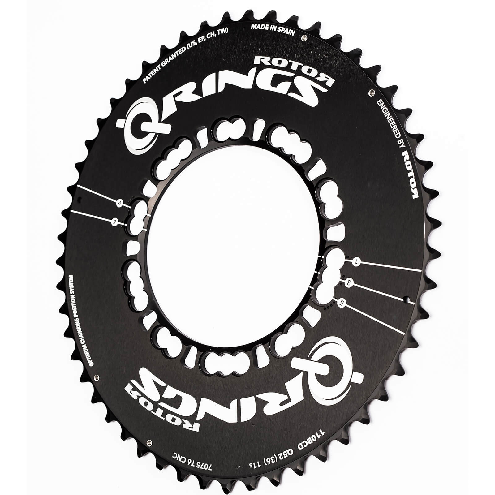 Rotor Q Aero Outer Chainring 5 Bolt