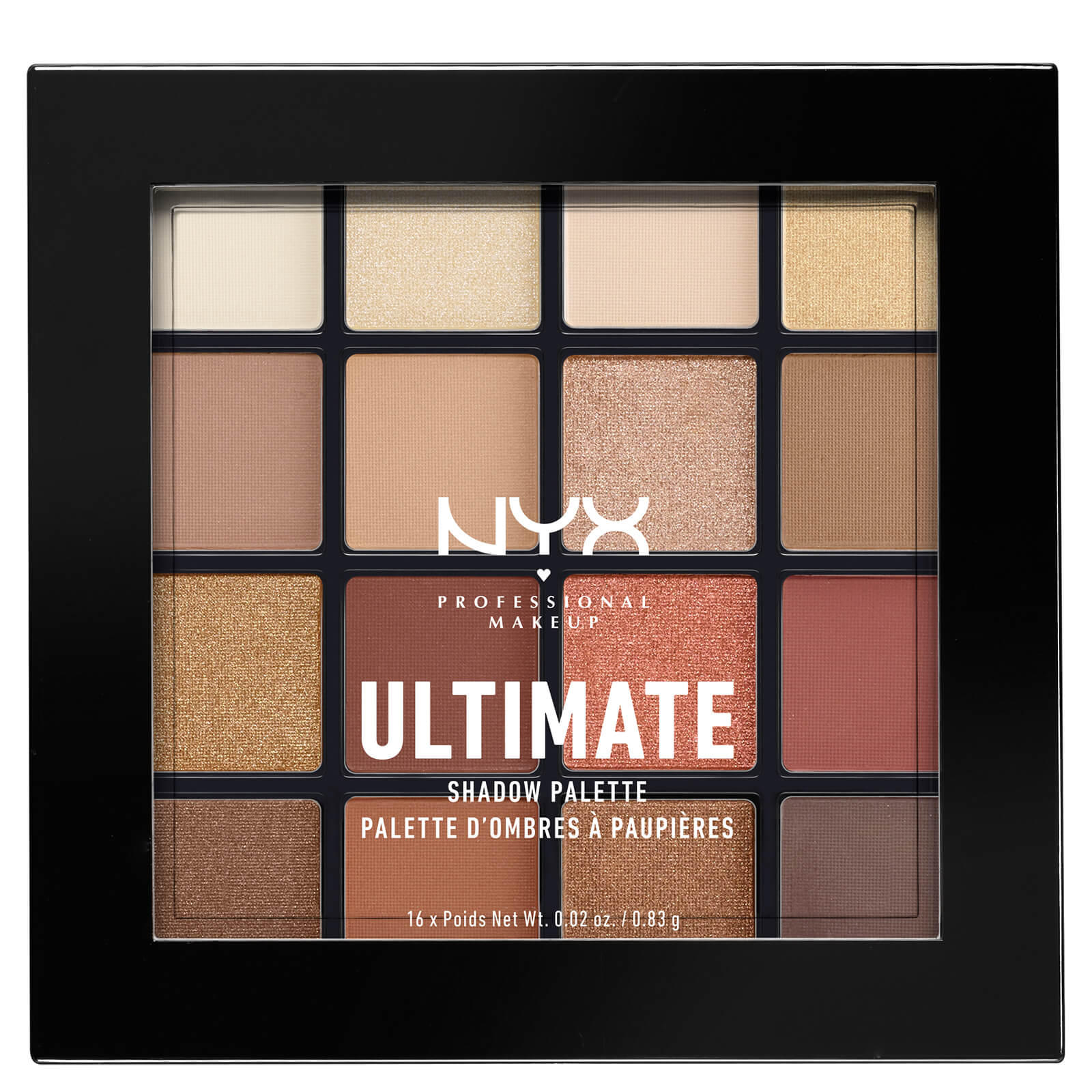 NYX Professional Makeup Ultimate Shadow Palette - Warm Neutrals ...