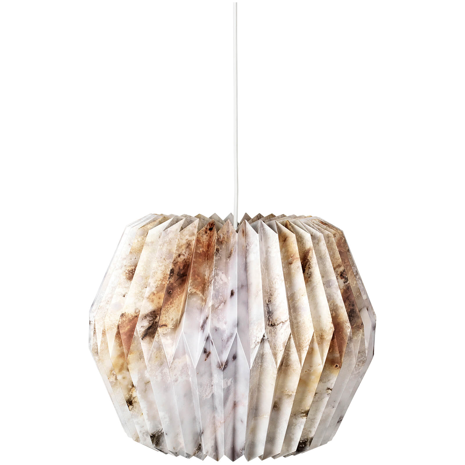 Broste Copenhagen Paper Lightshade - Design No. 17 - Brown