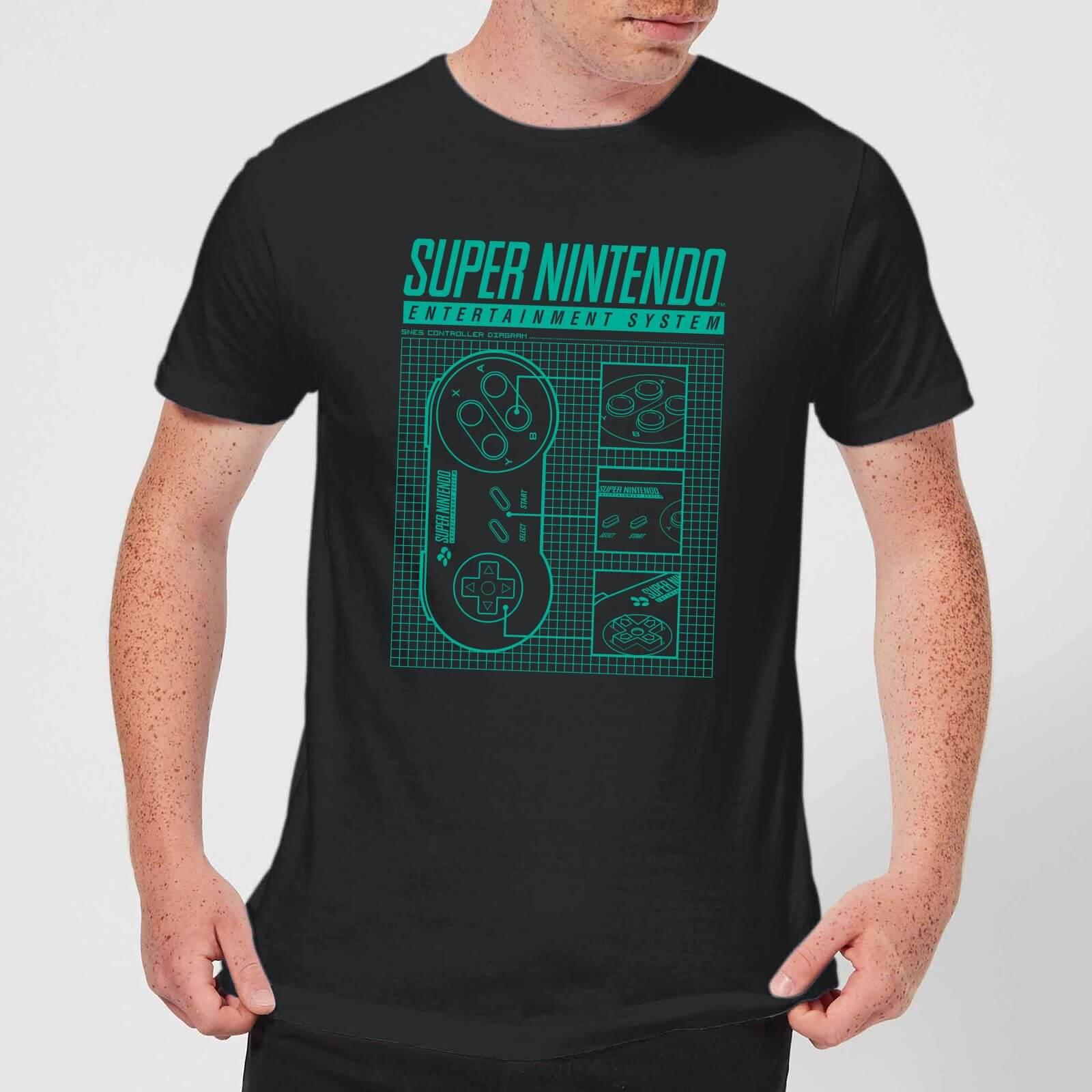 7350f16c4c407c Super Nintendo Entertainment System Schwarzes T-Shirt