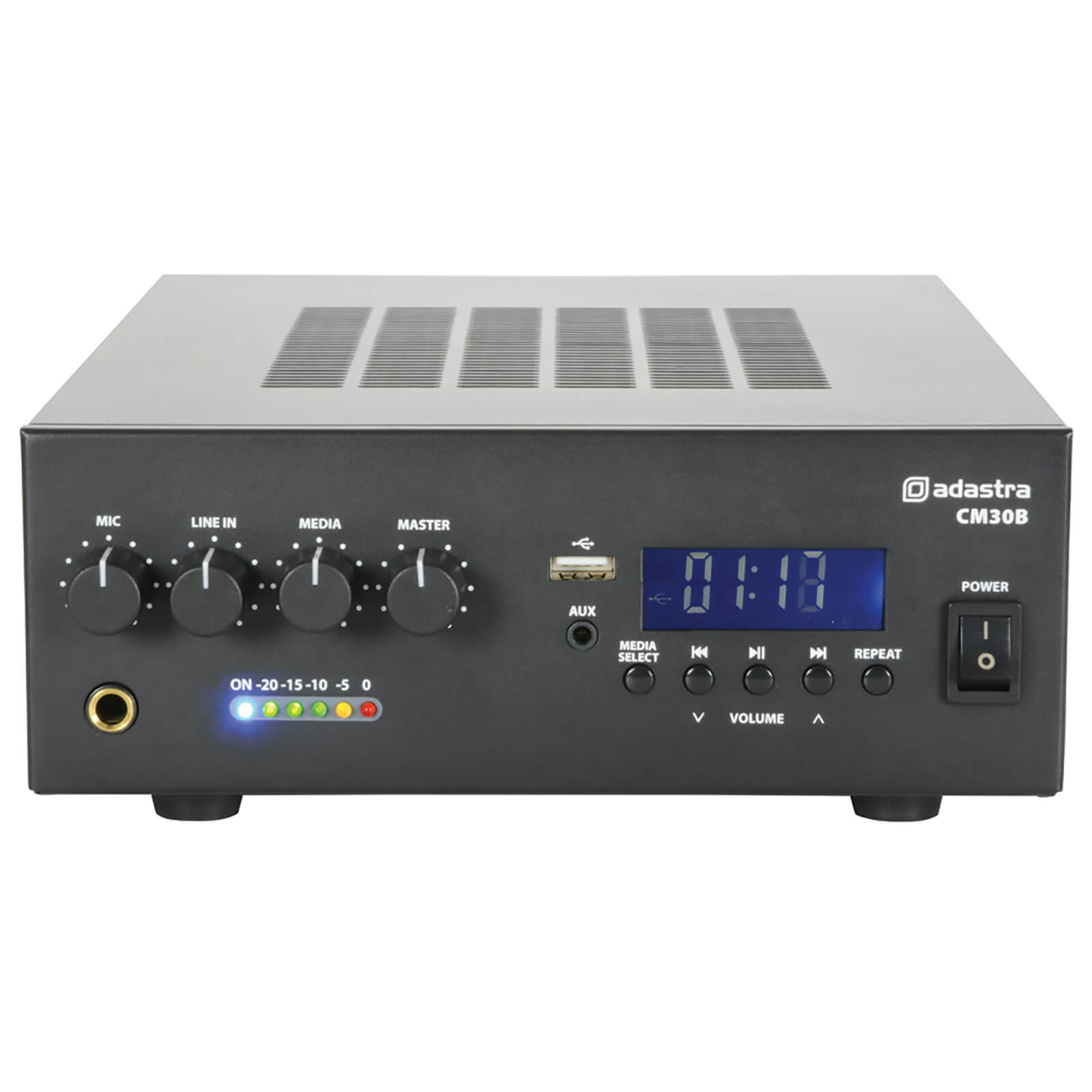 Adastra CM30B Bluetooth 100V 30W Mixer Amplifier with USB and FM