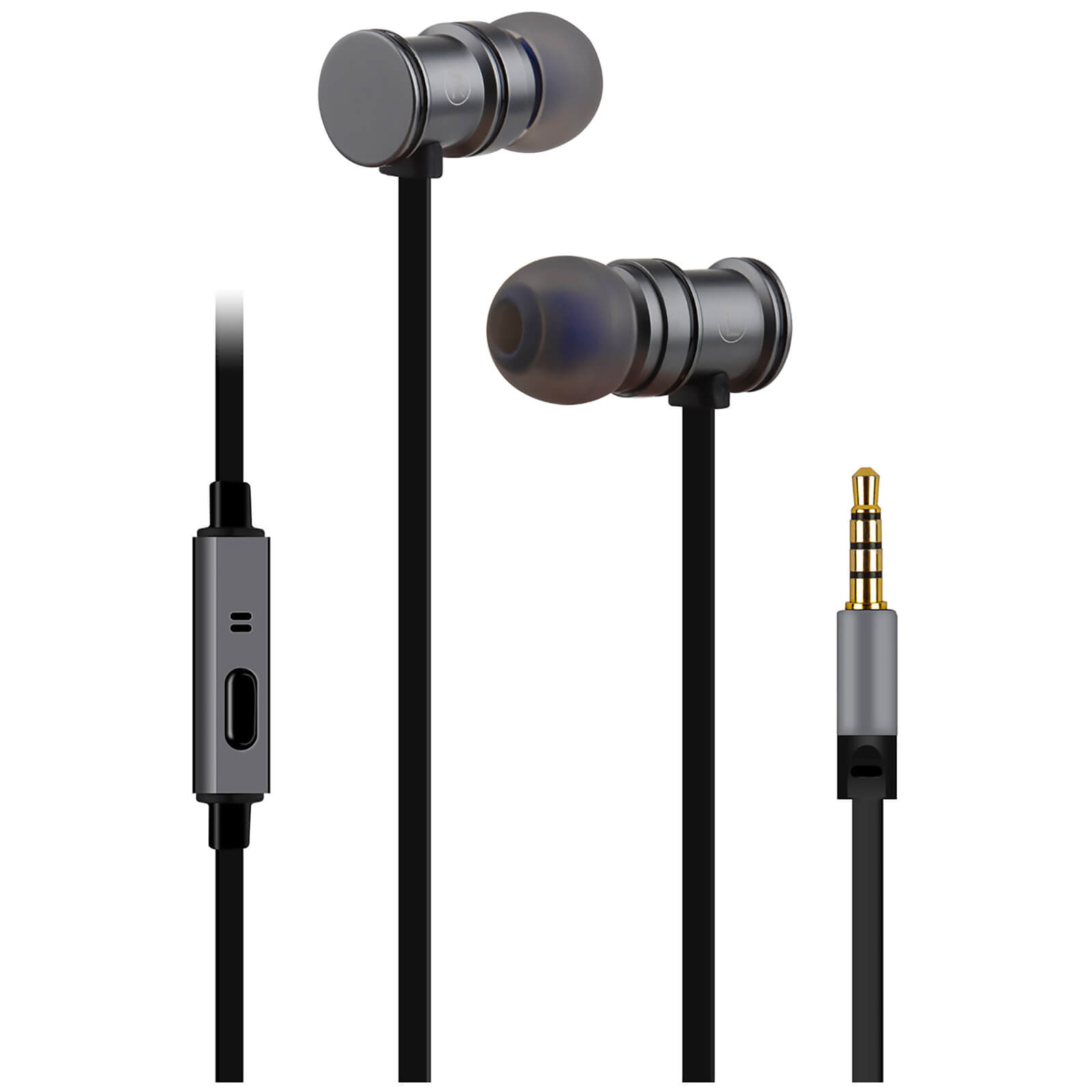 f16684f10bc AV: Link Metallic Magnetic Stereo Noise Cancelling Earphones with Tangle  Free Cable - Metallic Grey | IWOOT