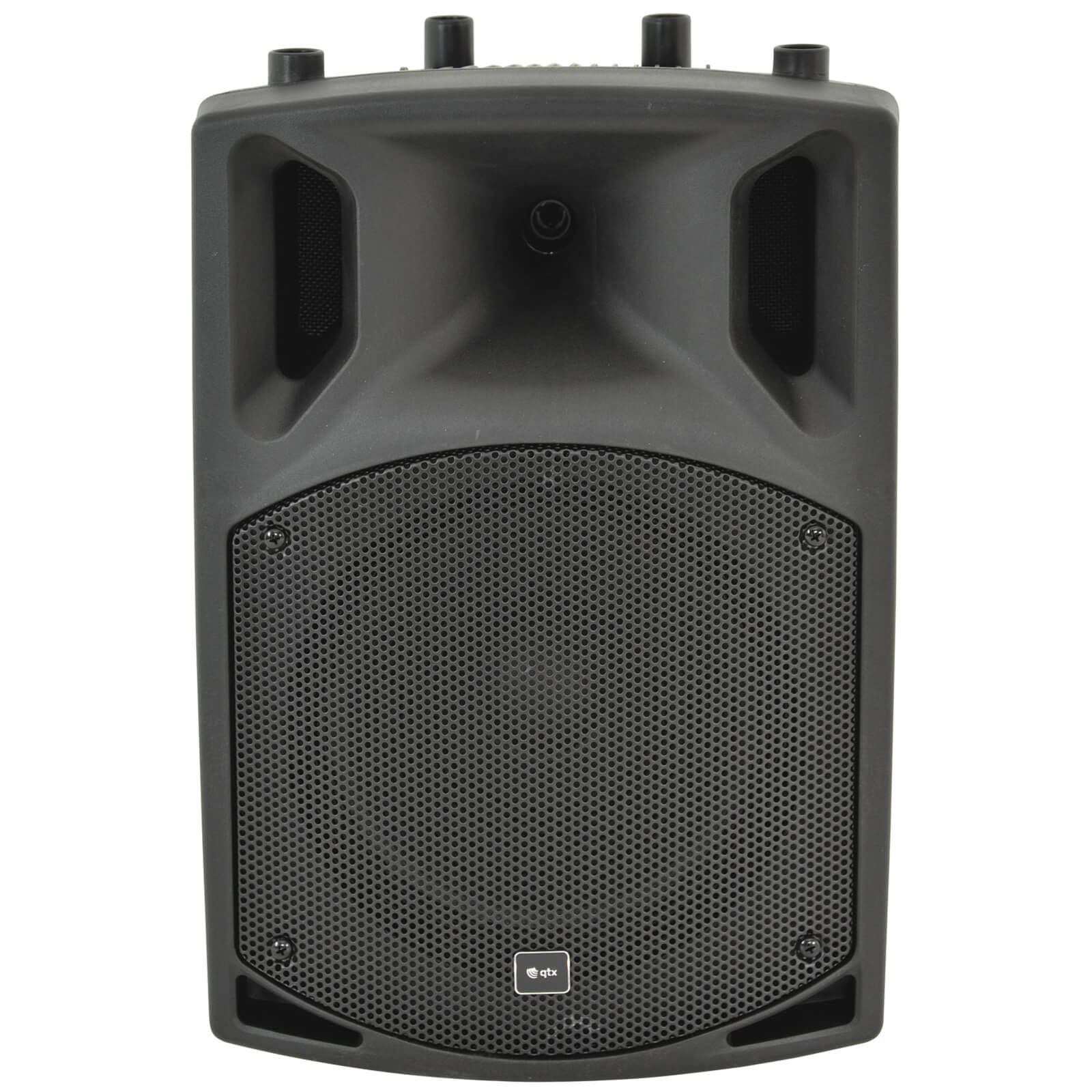 QTX QX10BT Active Moulded Bluetooth Speaker - Black (10 Inch Driver)