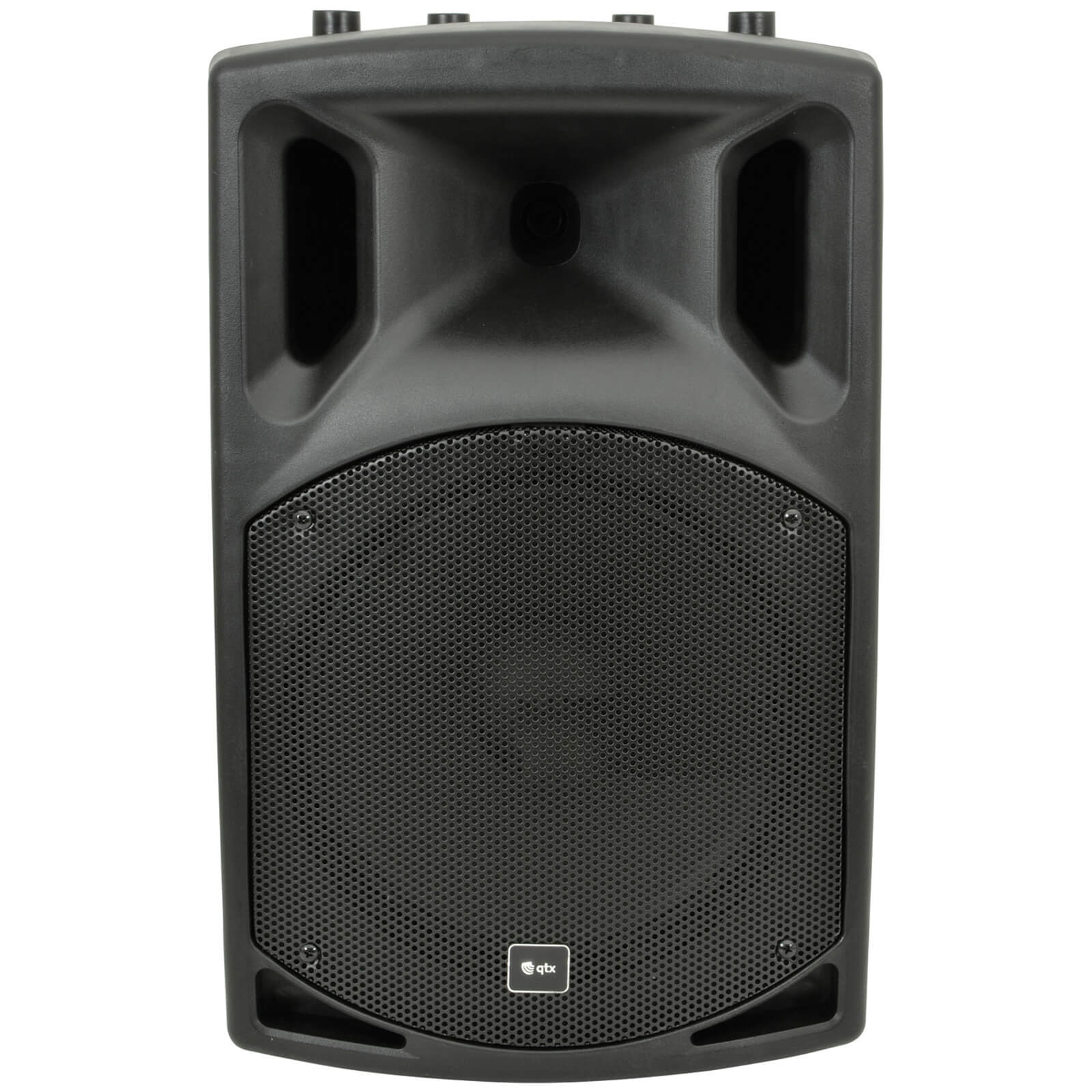 QTX QX12A Active Moulded PA Speaker - Black (12 Inch Driver)