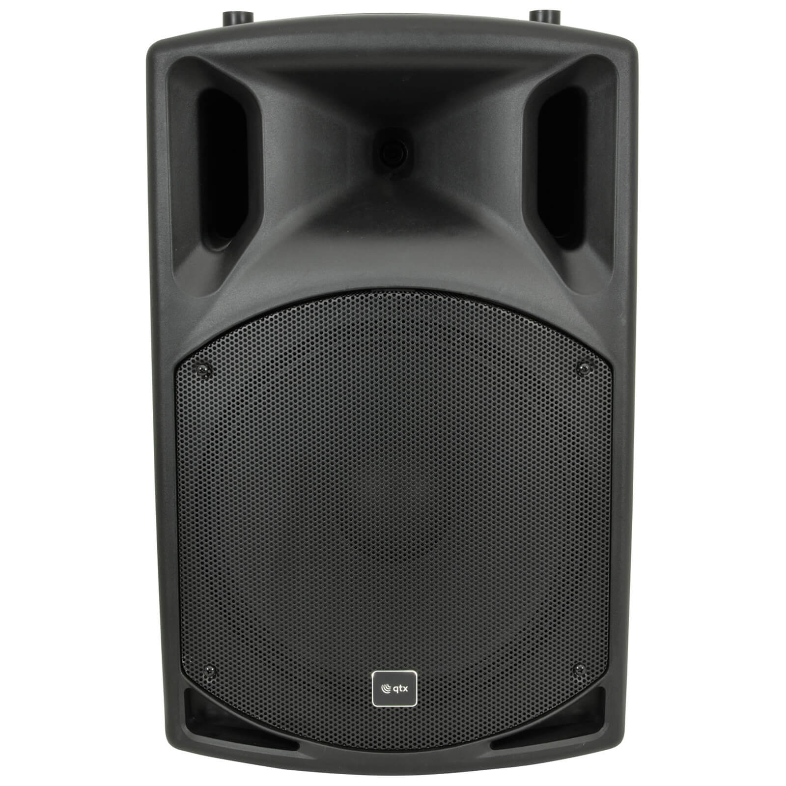 QTX QX15A Active Moulded PA Speaker - Black (15 Inch Driver)