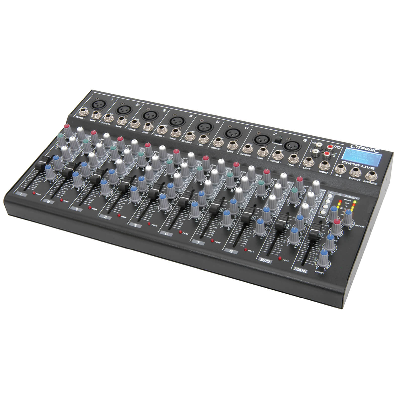 Citronic CM10-live Compact Mixers (Delay/USB/SD Player/10 Channel)