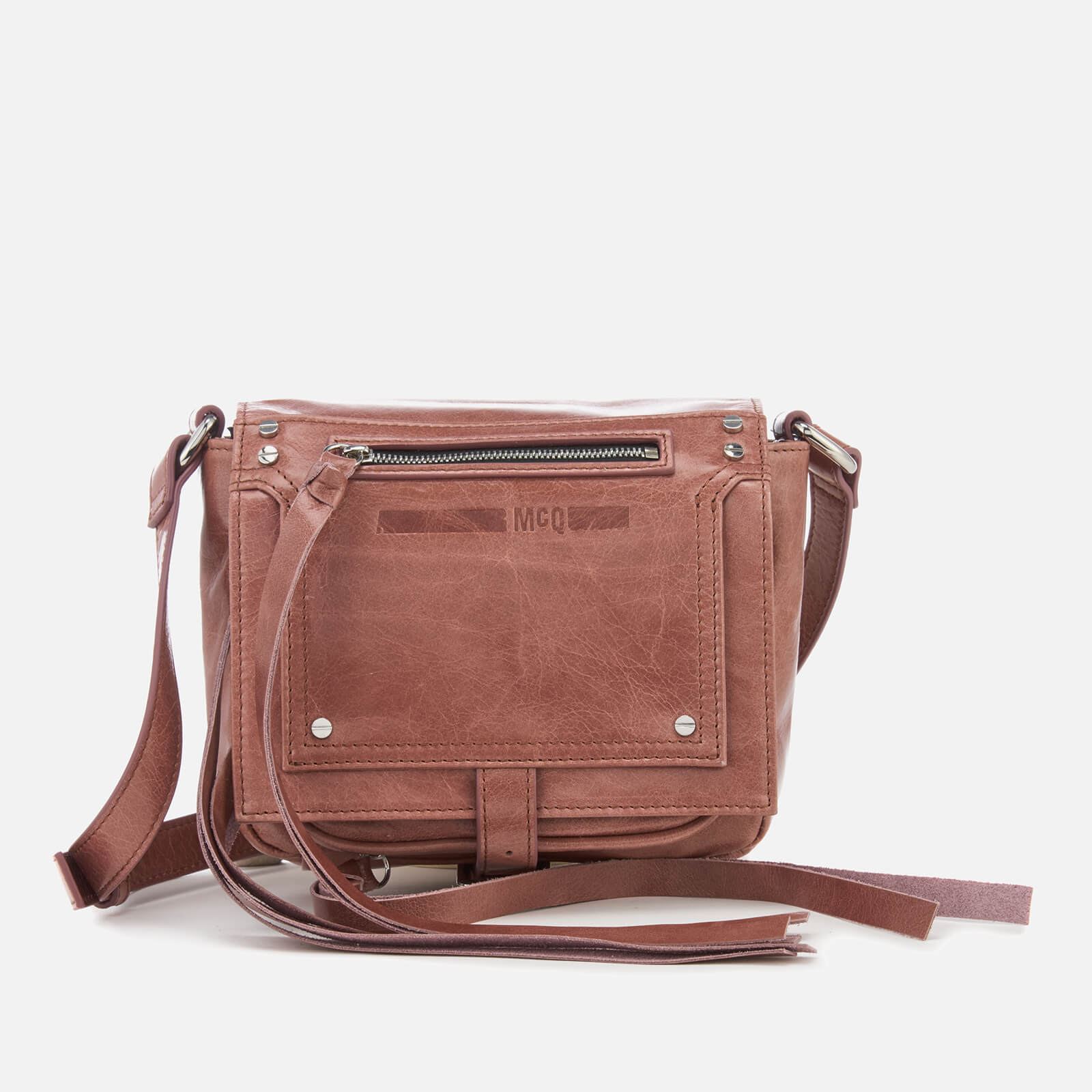 530d26573ce17 McQ Alexander McQueen Women s Loveless Mini Cross Body Bag - Dirty Pink -  Free UK Delivery over £50