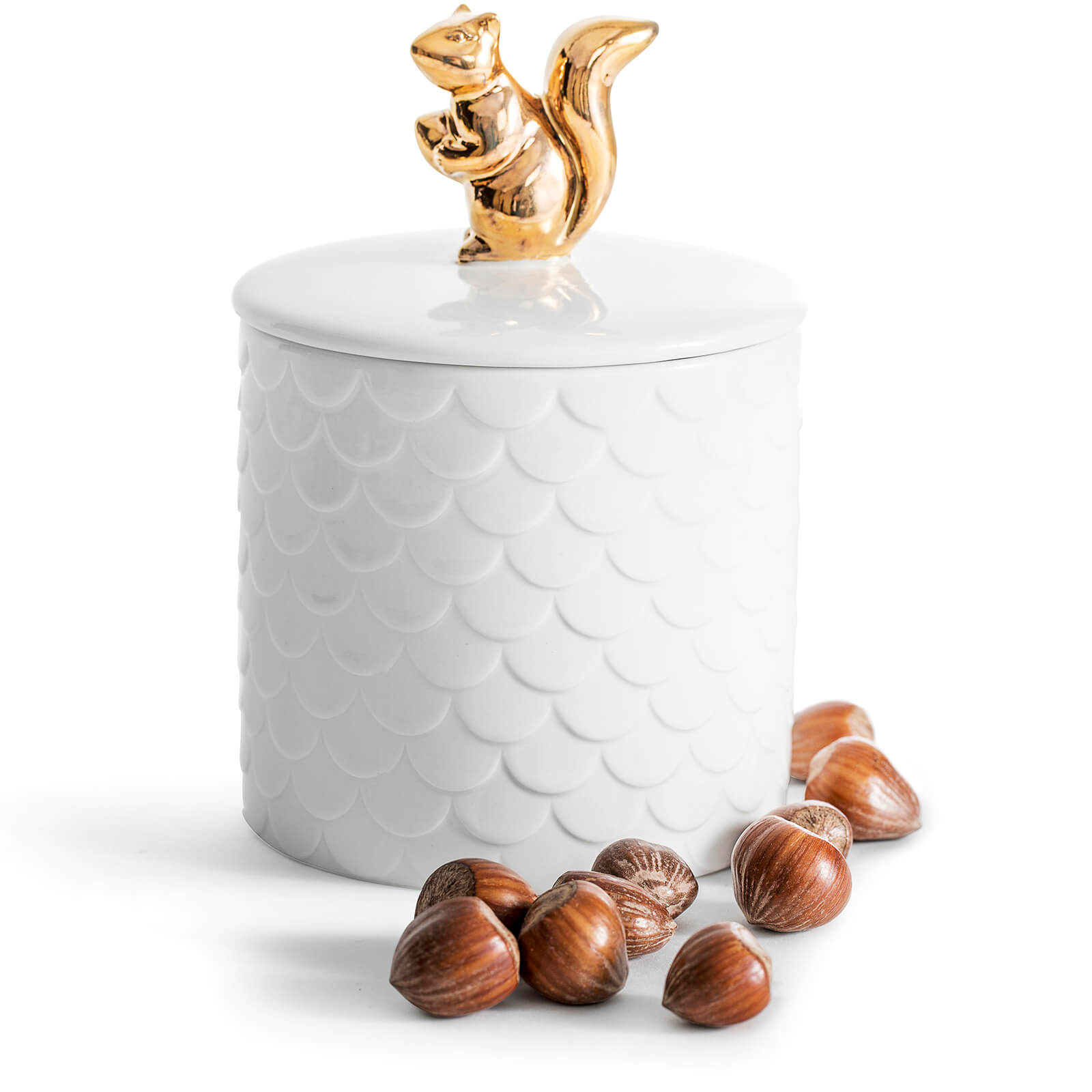Sagaform Ceramic Squirrel Storage Jar - White