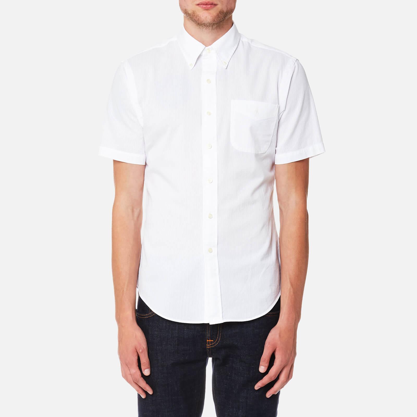 e12c76051 Polo Ralph Lauren Men s Seersucker Short Sleeve Sport Shirt - White - Free  UK Delivery over £50