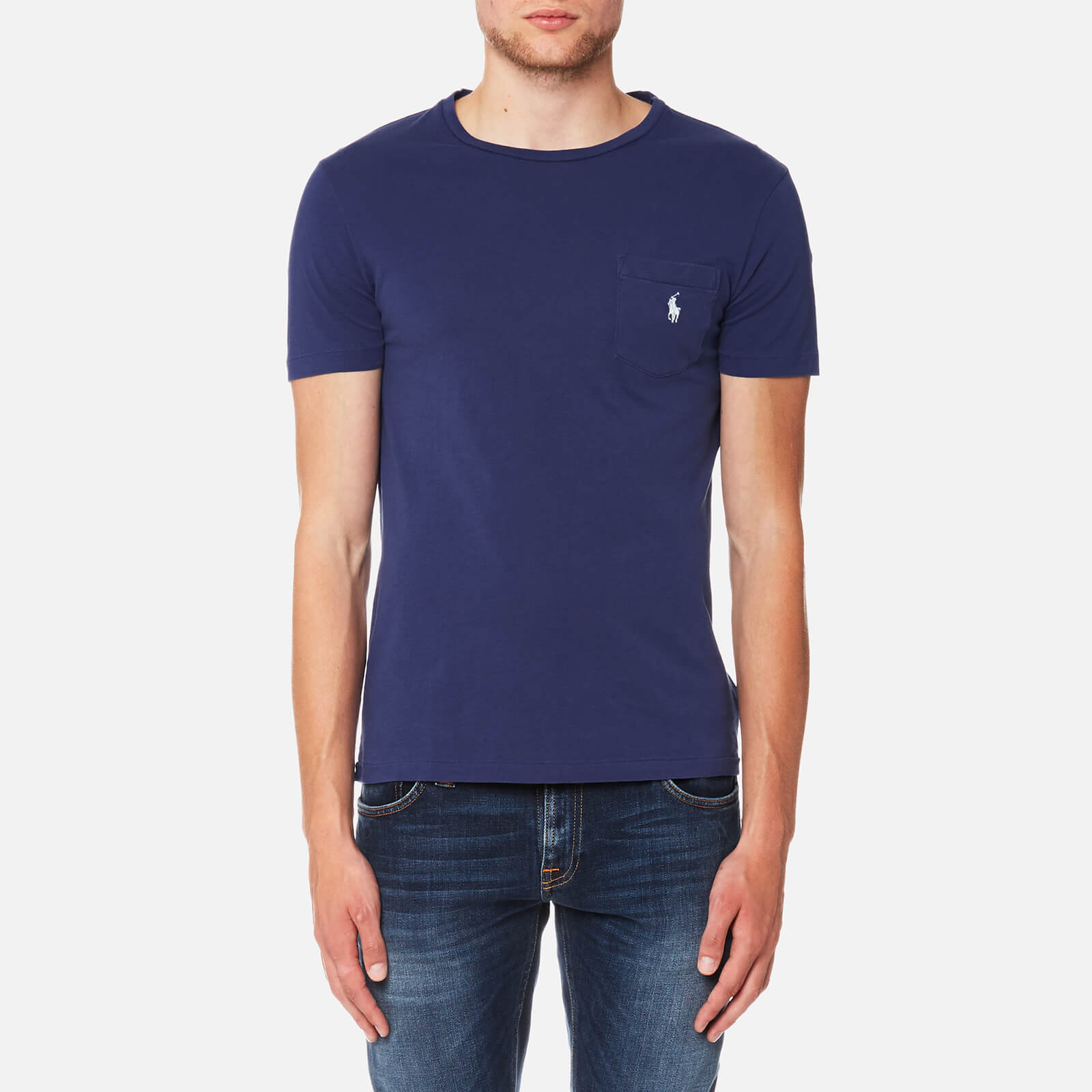 8469be7fb Polo Ralph Lauren Men s Custom Fit T-Shirt - Yale Blue - Free UK Delivery  over £50