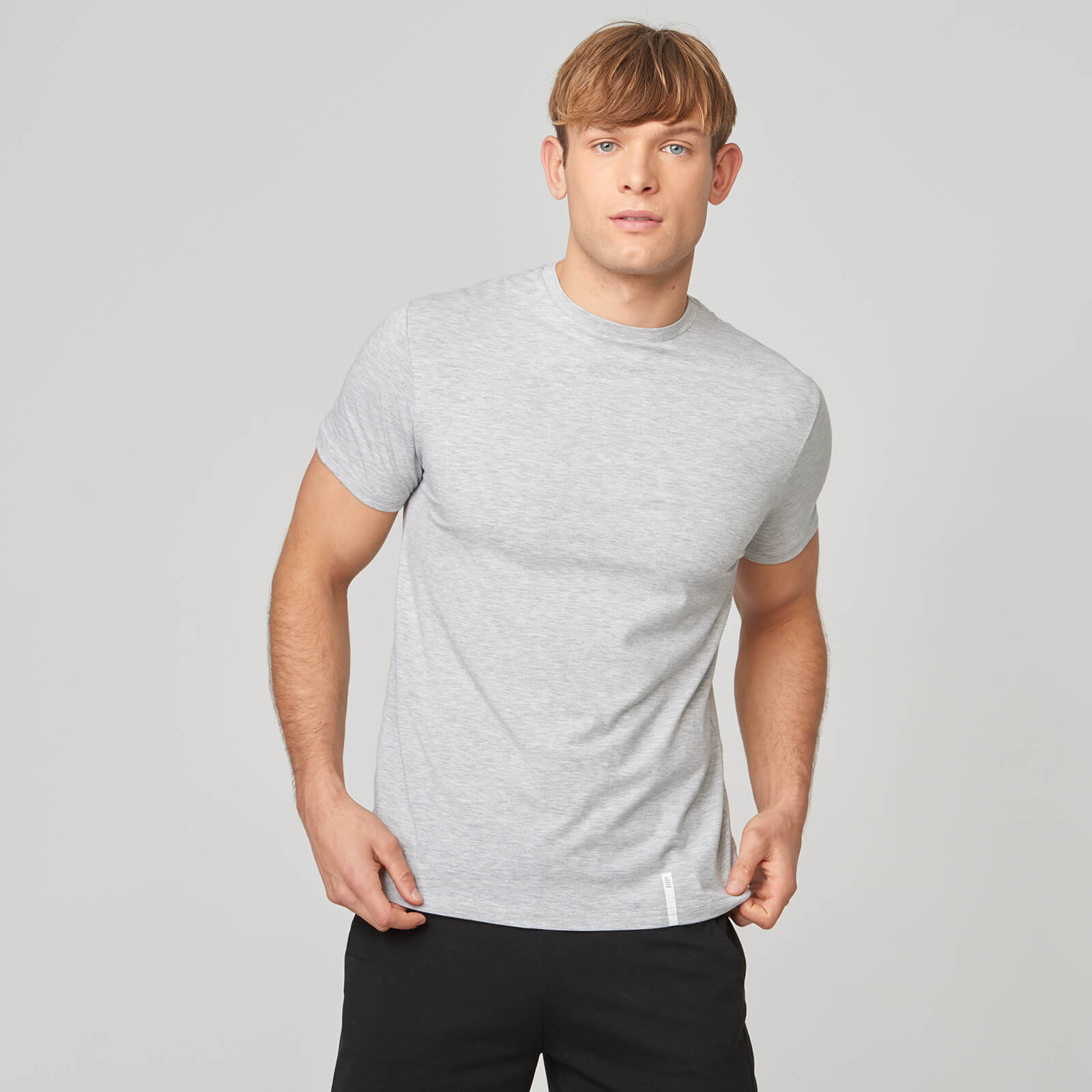 Myprotein Luxe Classic Crew T-Shirt - Grey Marl - XL