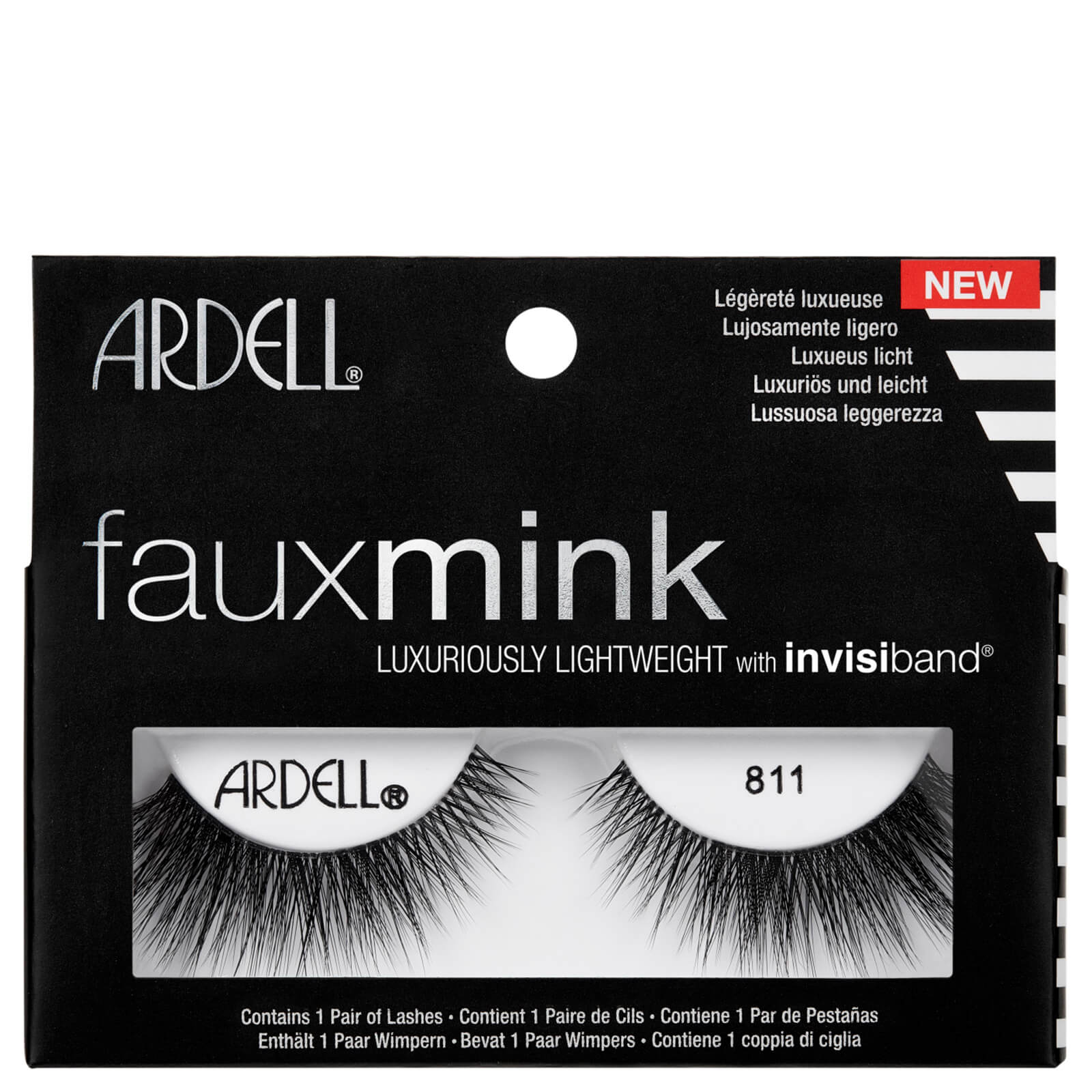 884dfb88e2c Ardell Faux Mink 811 Lashes - Black | Free Shipping | Lookfantastic