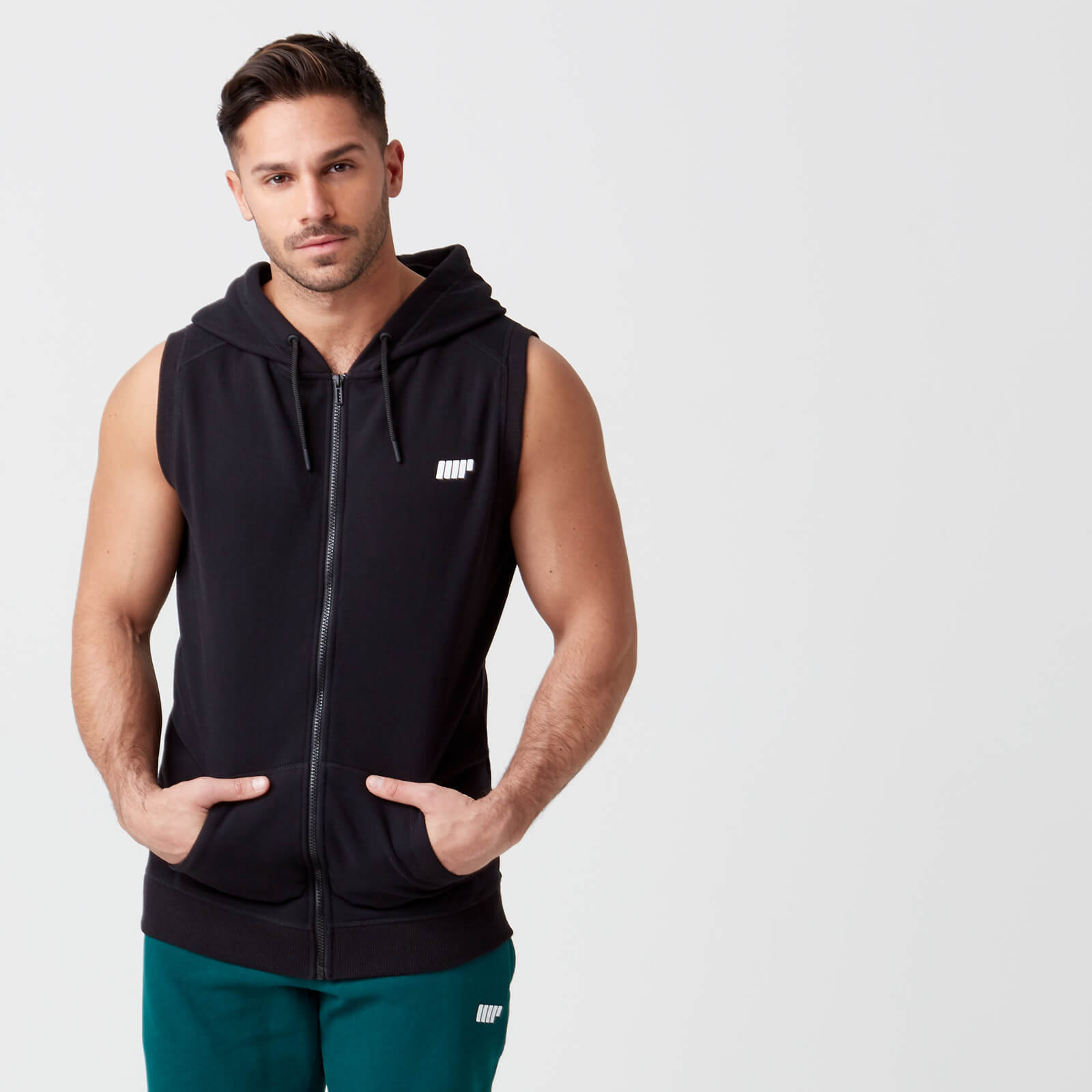 Tru-Fit Sleeveless Hoodie - Black - S