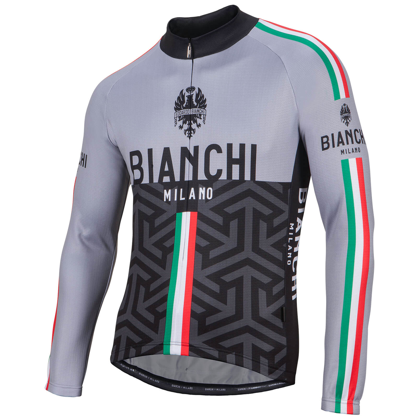 Bianchi Montalto Long Sleeve Jersey - Black/Grey