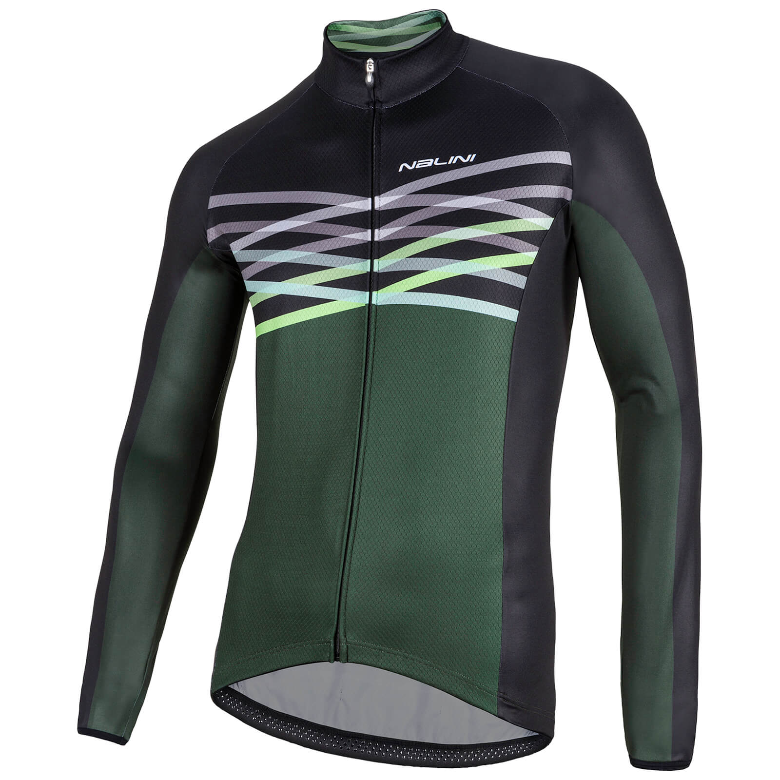 Nalini Merak Long Sleeve Jersey - Green/Black