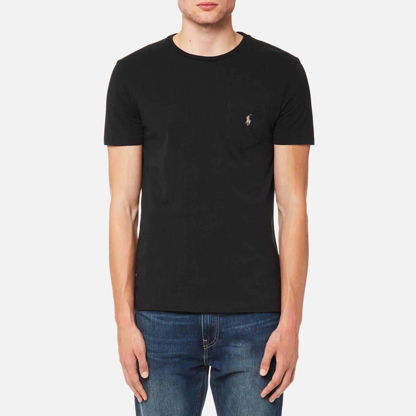 3c2f2b67e19e Polo Ralph Lauren Men s Crew Neck Pocket T-Shirt - Polo Black - Free UK  Delivery over £50