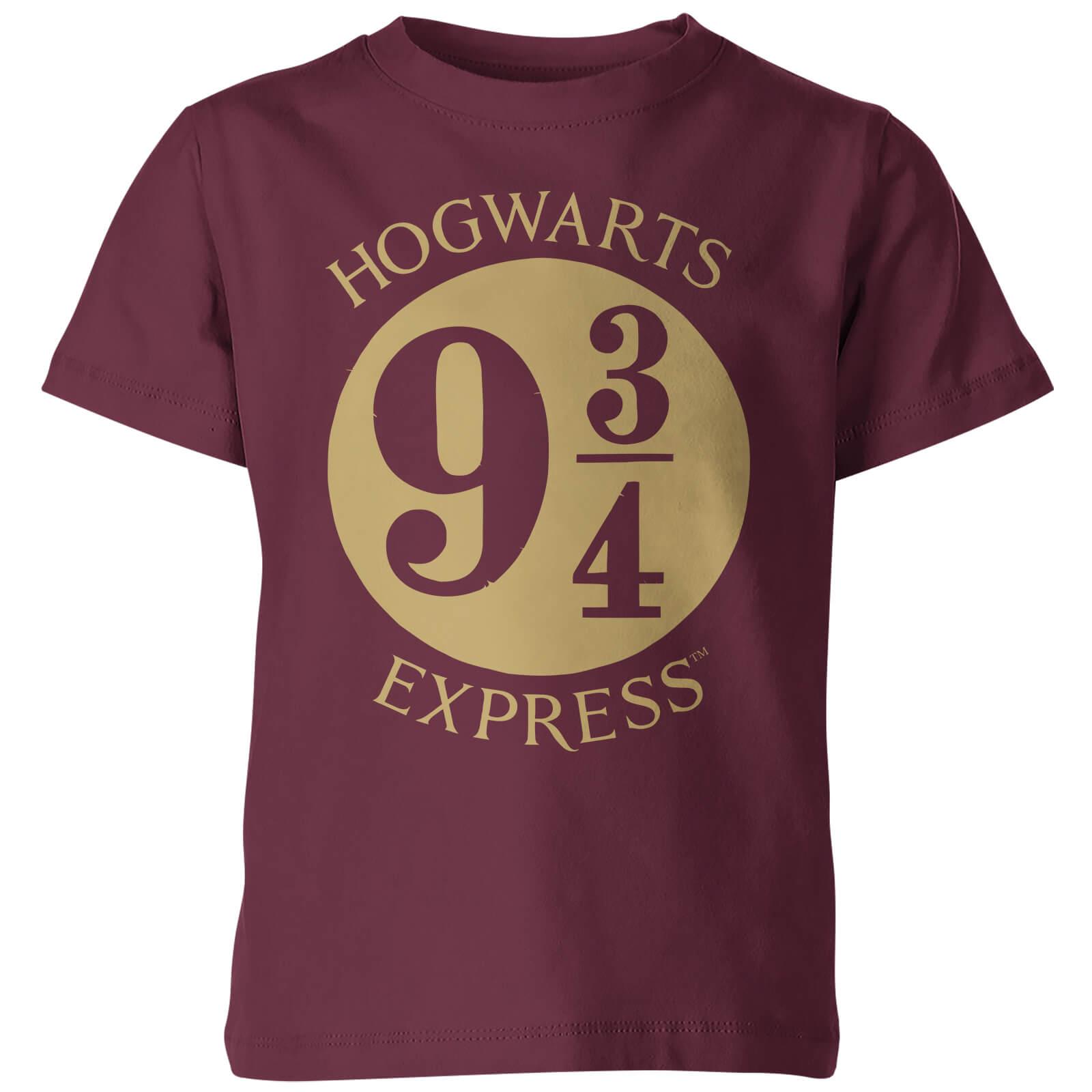 T shirt enfant plateforme 9 3 4 harry potter bordeaux for T shirt printing franchise