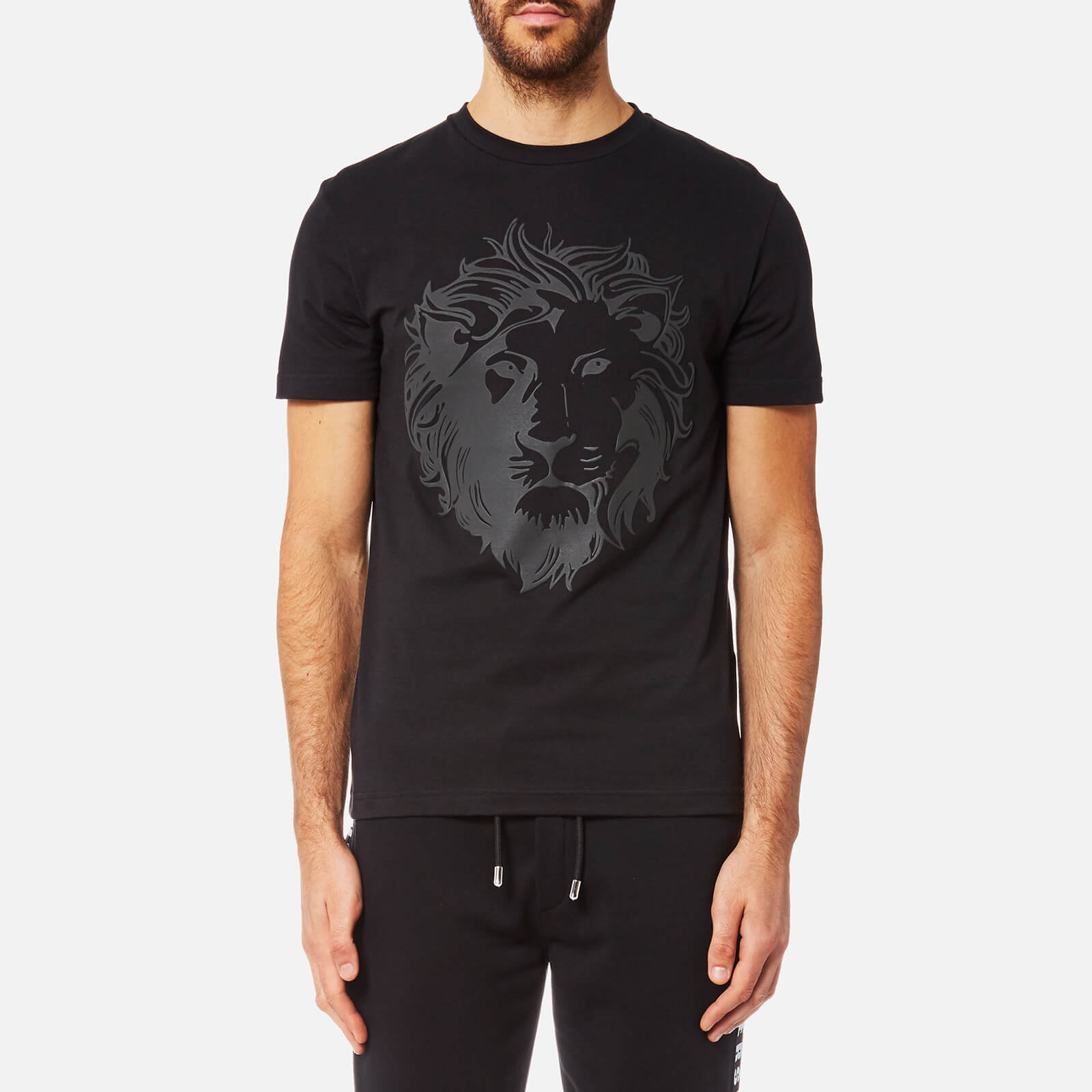36422e99ec93e7 Versus Versace Men's Printed Versace Short Sleeve T-Shirt - Black/Stampa -  Free UK Delivery over £50