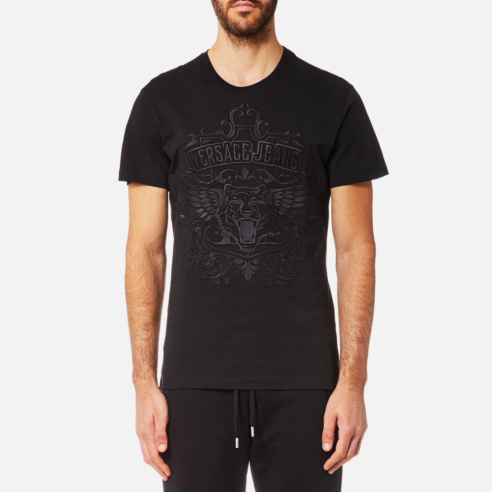 f437bb212 Versace Jeans Embroidered Logo T Shirt