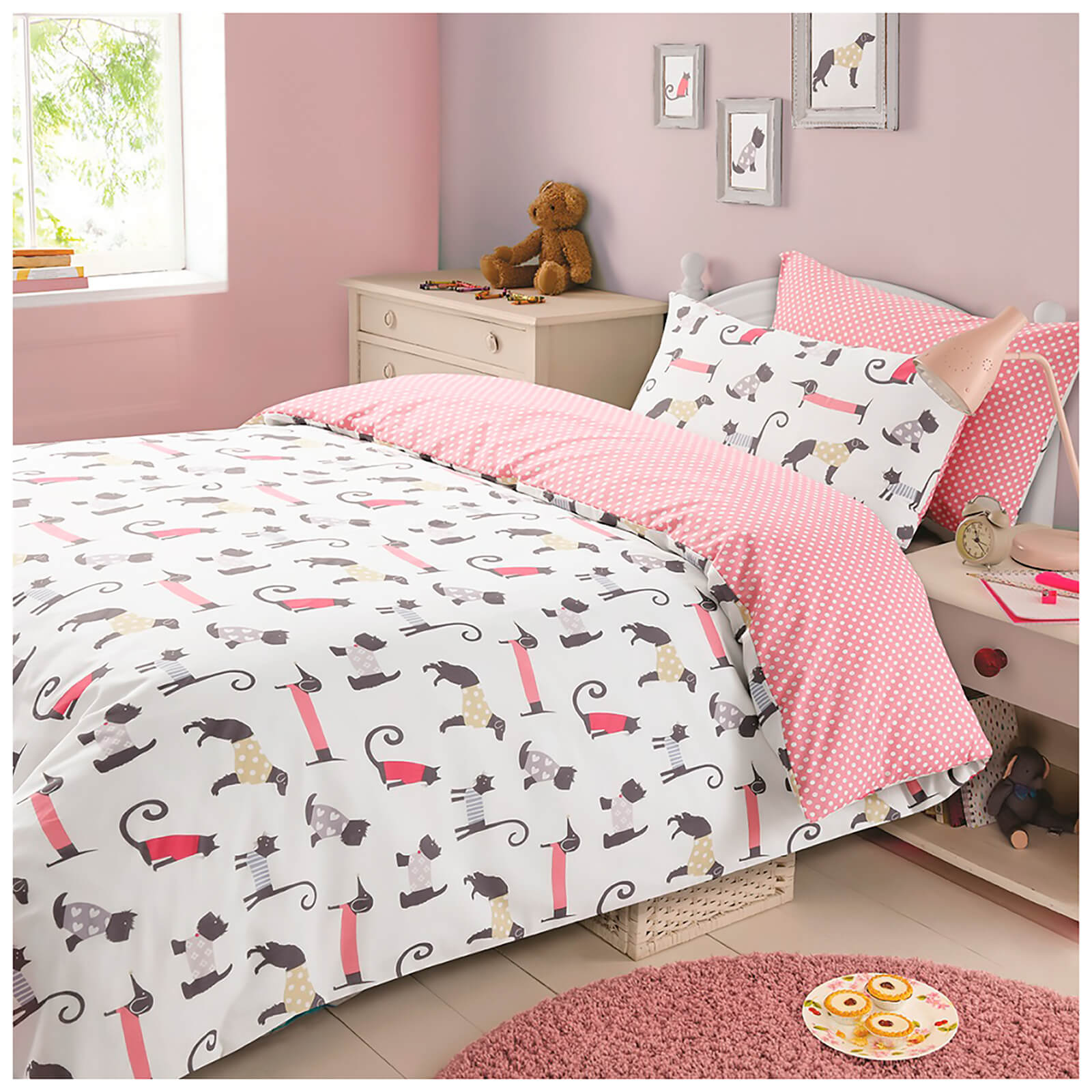 Dreamscene Cat and Dog Duvet Set