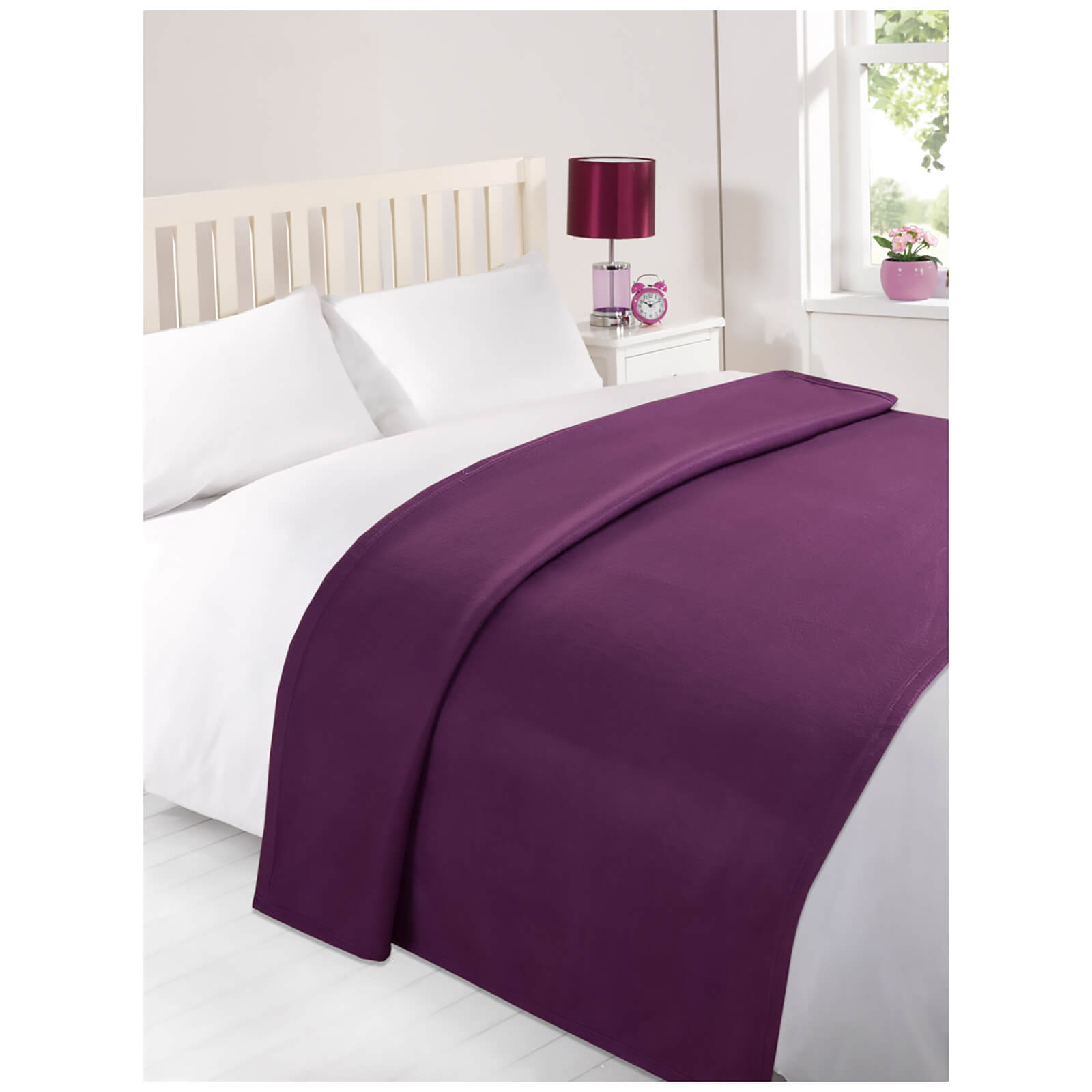 Dreamscene Soft Fleece Throw (120 x 150cm) - Grape