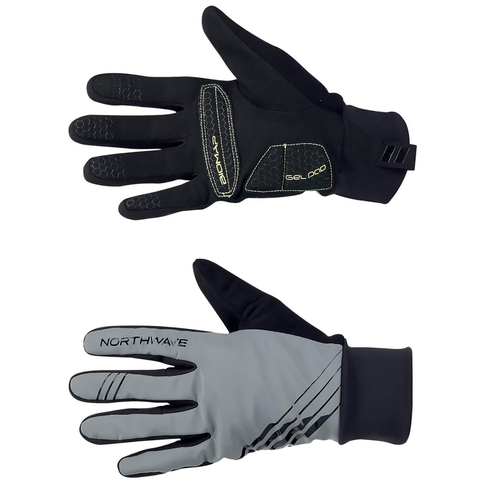 Northwave Power 2 Gel Winter Gloves - Reflective