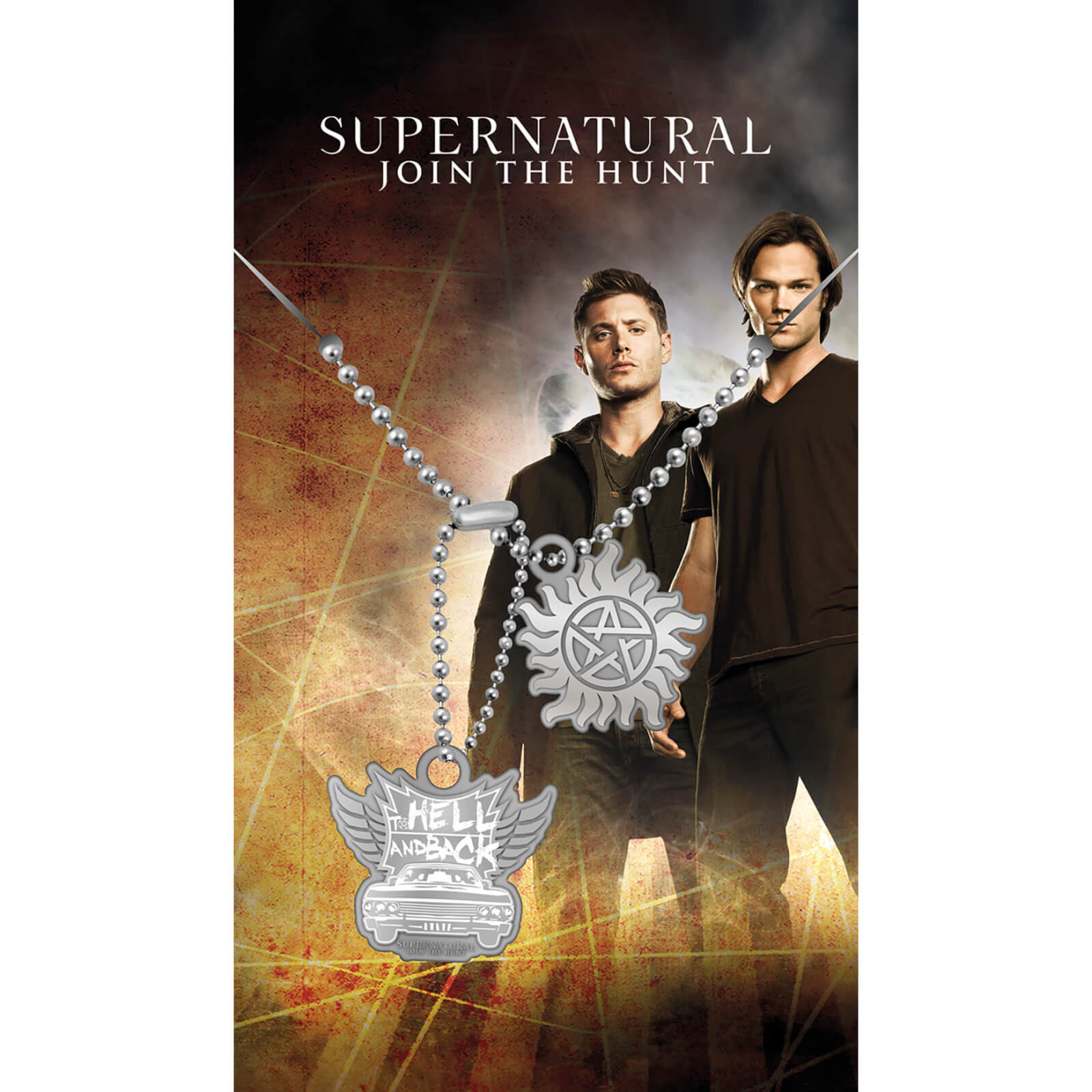 Supernatural Hell And Back Dog Tag Pendant