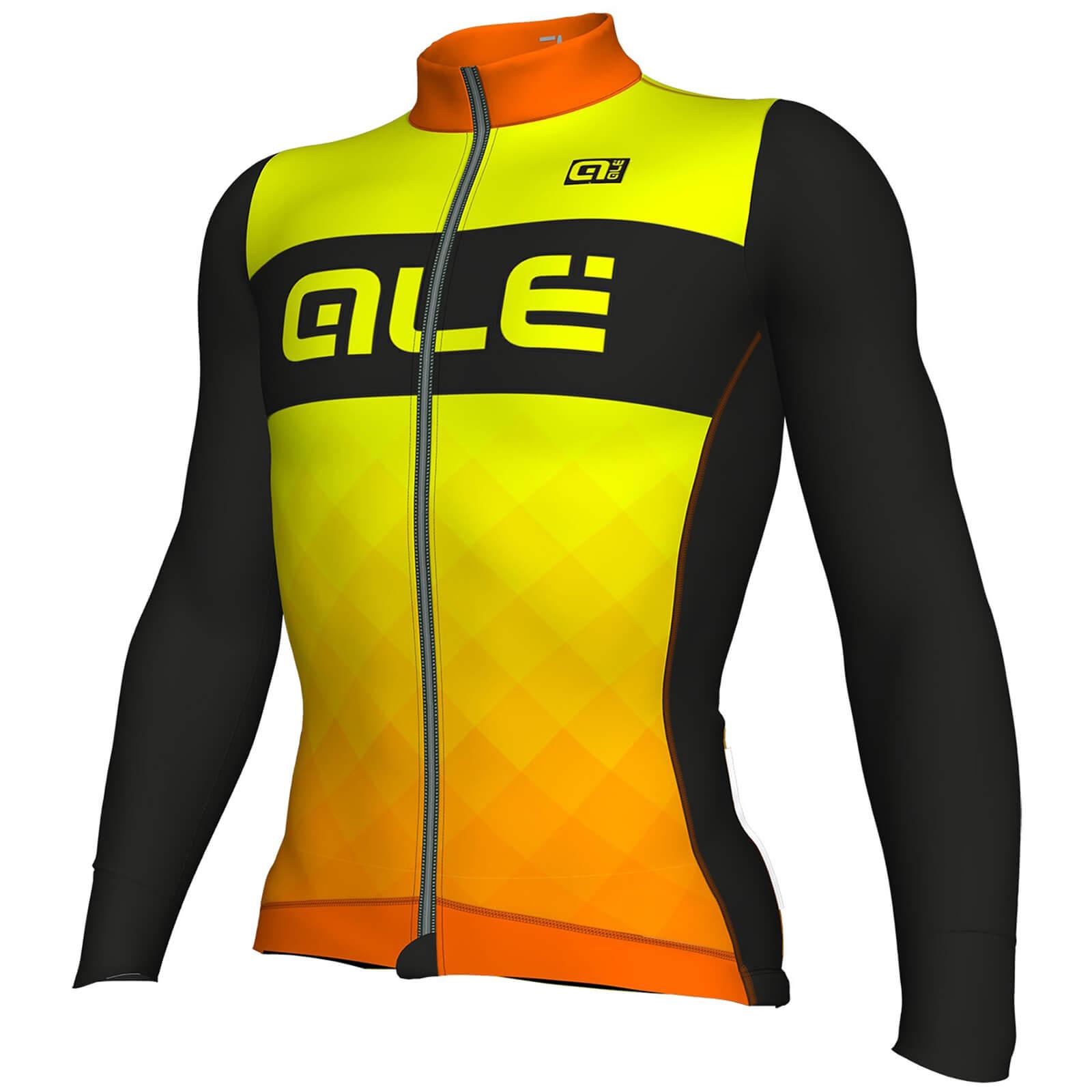 3831423f9cd Alé R-EV1 Rumbles Winter Jersey - Black/Orange/Yellow | ProBikeKit UK