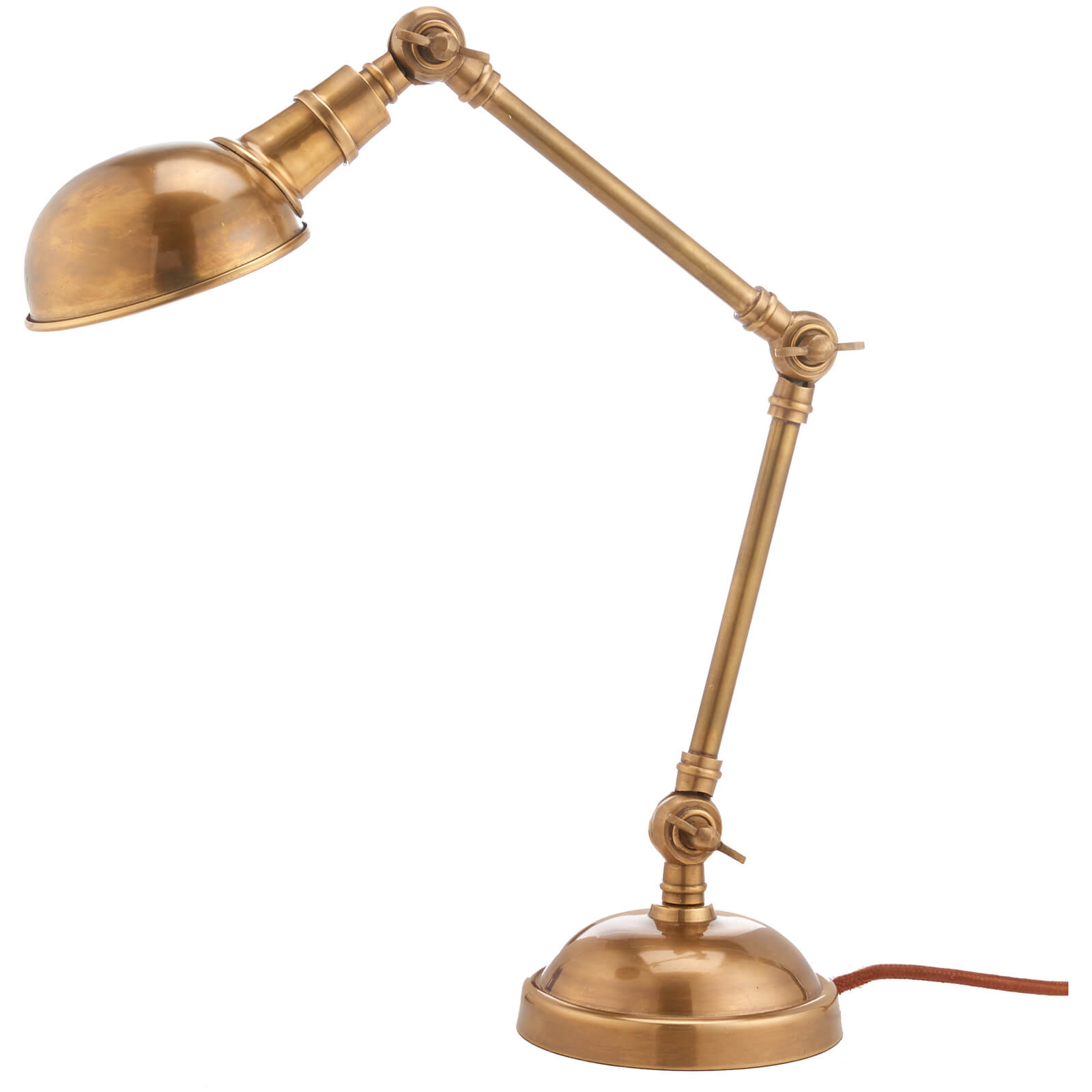 Nkuku Odhi Desk Lamp - Antique Brass