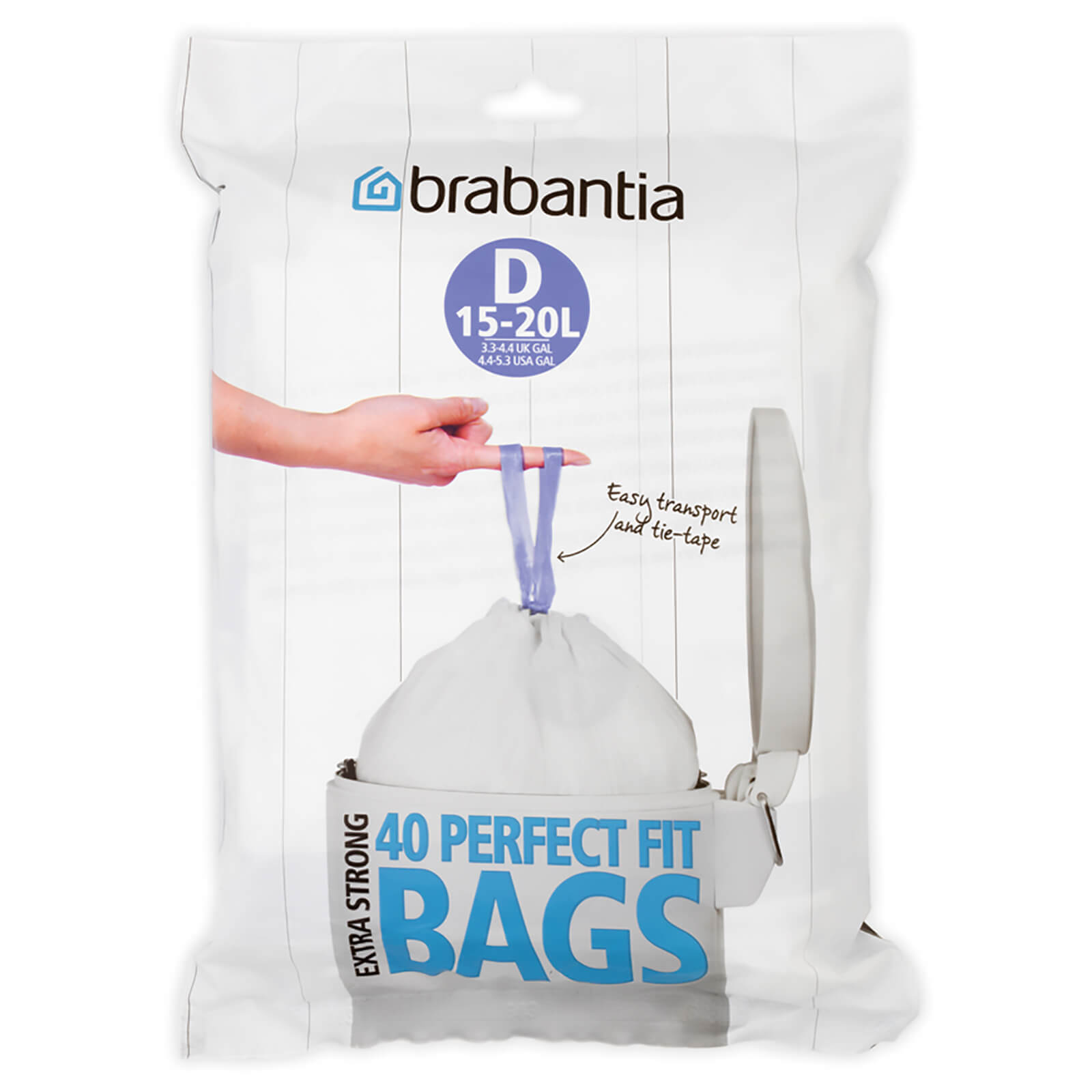 Brabantia PerfectFit Dispenser Pack D - 15-20 Litre (Pack of 40)