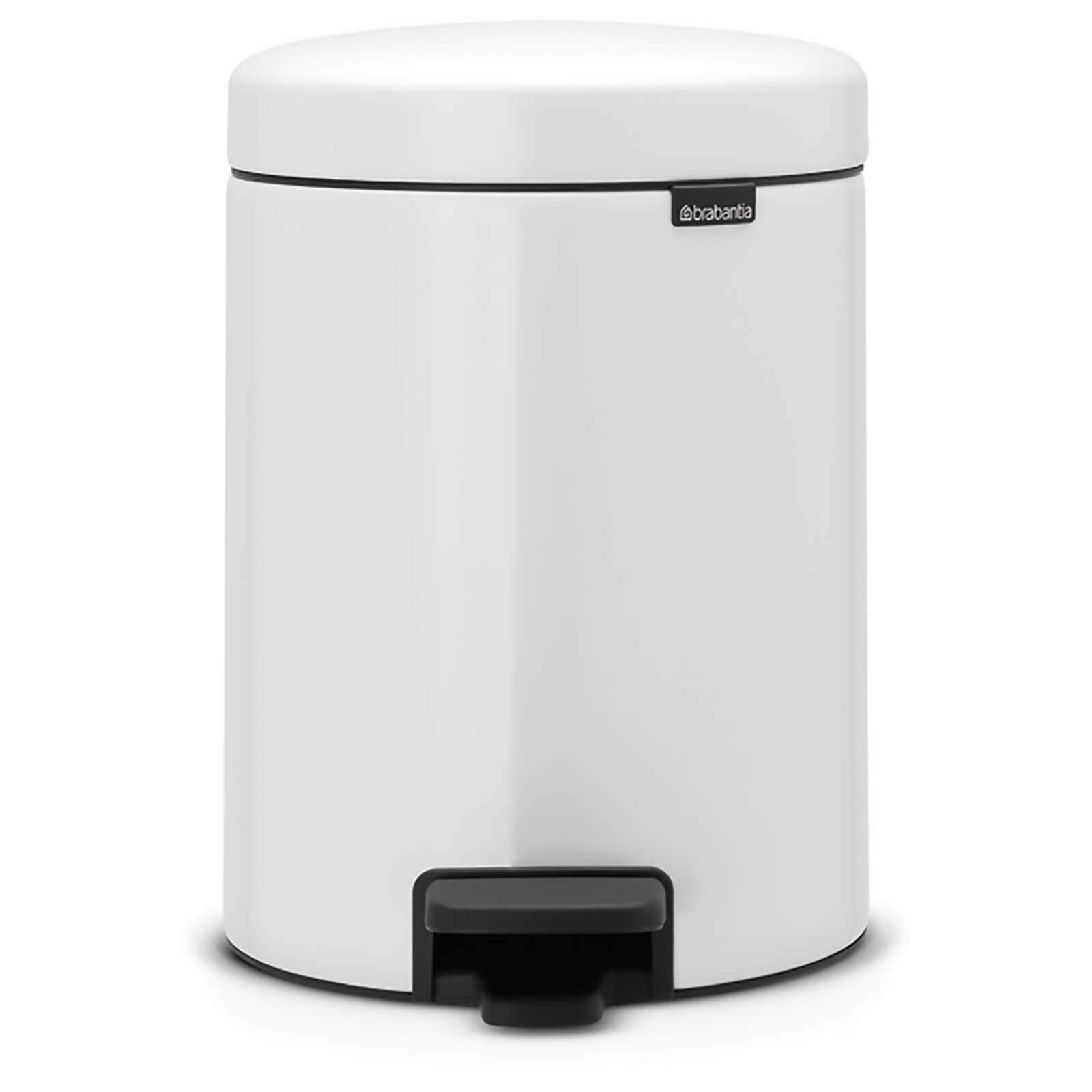Brabantia New Icon 5 Litre Pedal Bin - White