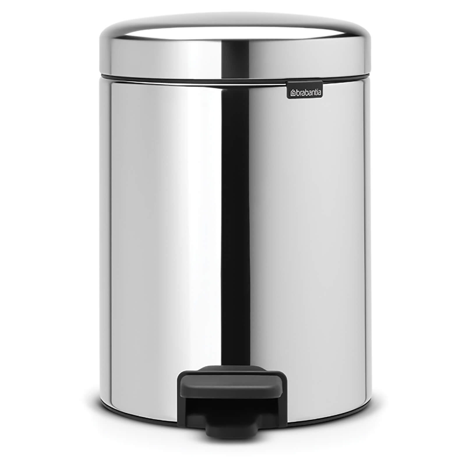 Brabantia New Icon 5 Litre Pedal Bin - Brilliant Steel