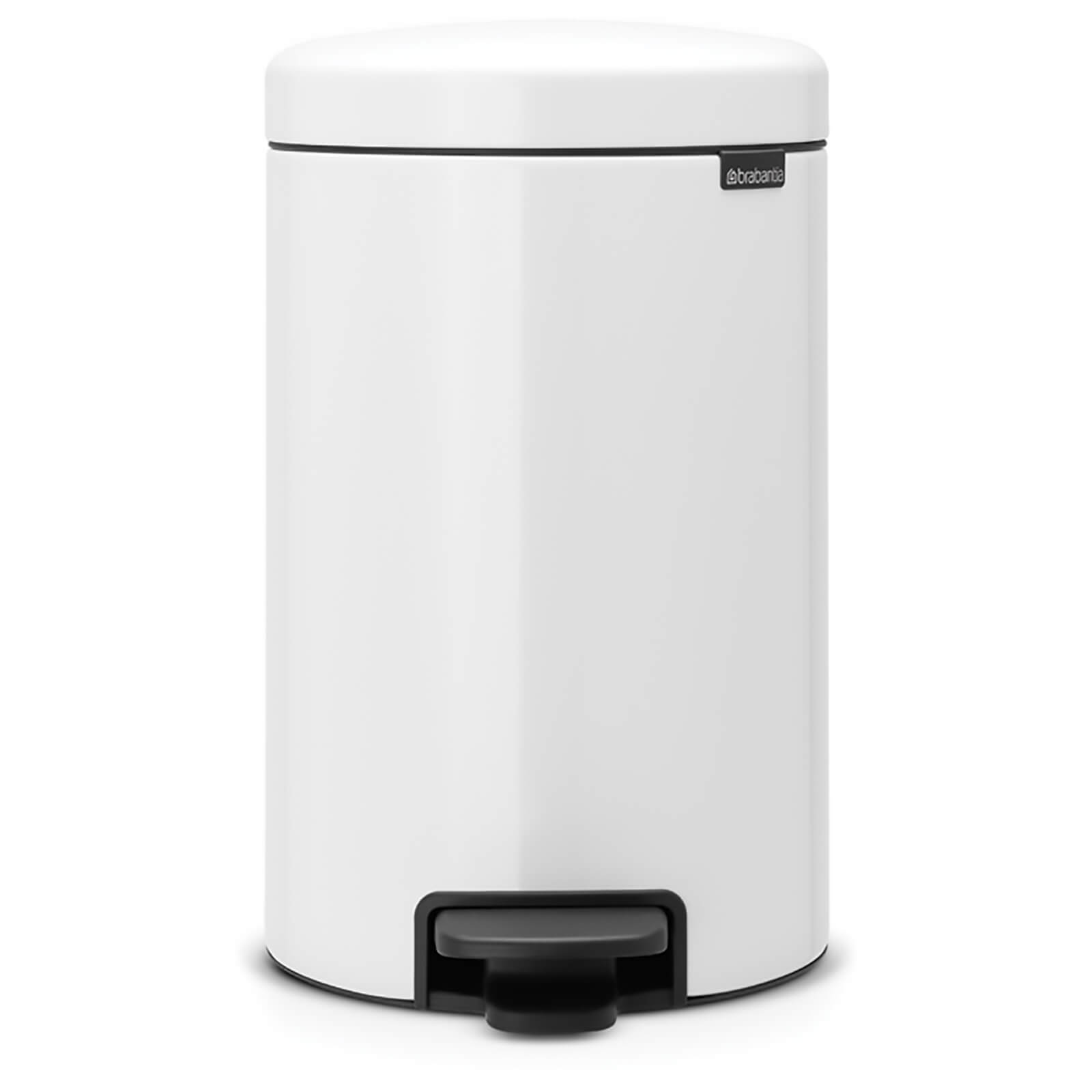 Brabantia New Icon 12 Litre Pedal Bin - White