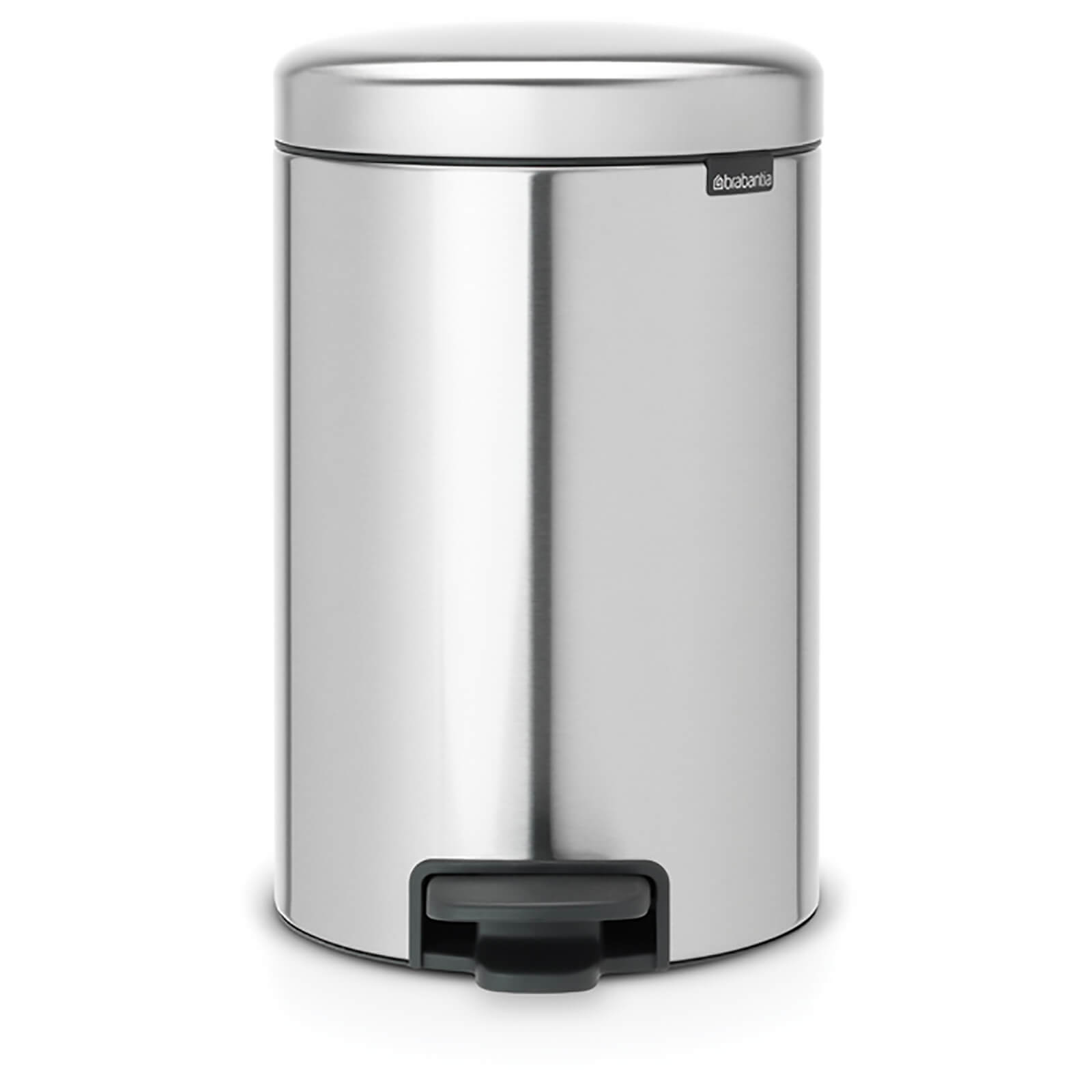 Brabantia New Icon 12 Litre Pedal Bin - Matt Steel Fingerprint Proof