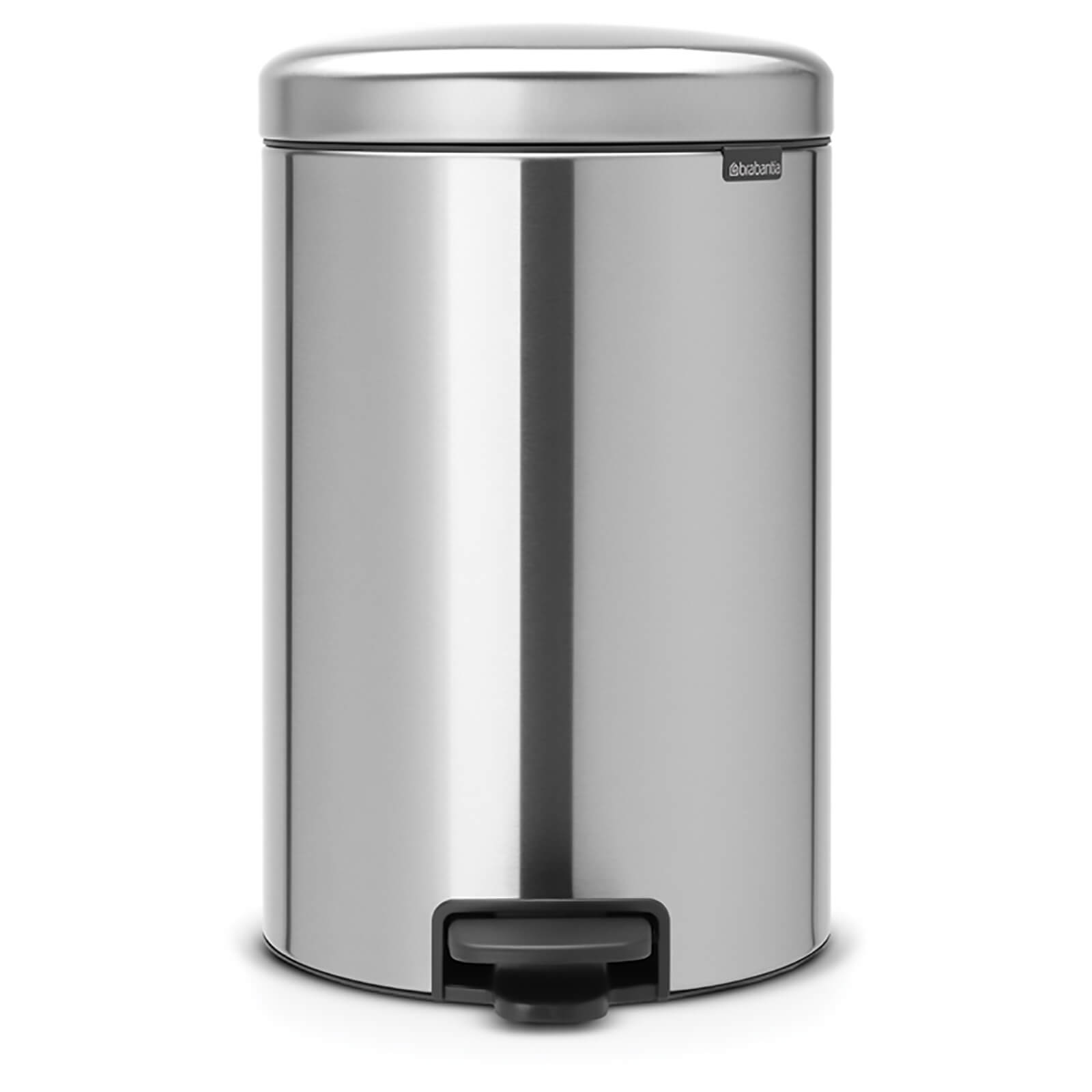 Brabantia New Icon 20 Litre Pedal Bin - Matt Steel Fingerprint Proof