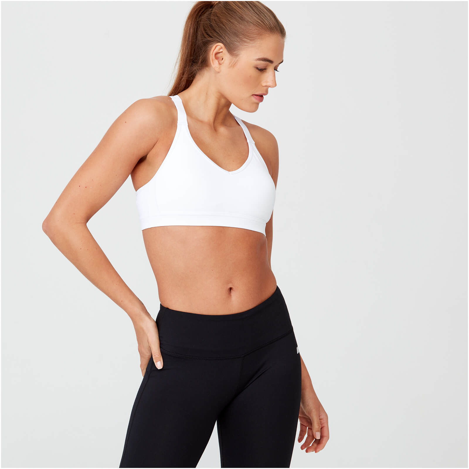 Heartbeat Sports Sports Bra - White - XS