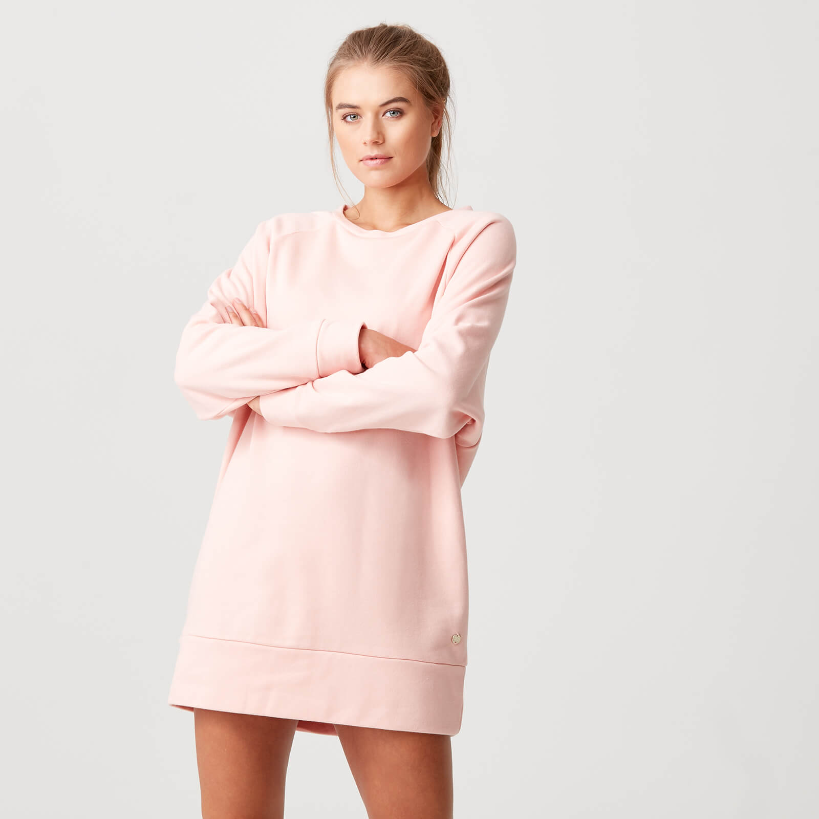 Luxe Lounge Sweater Dress - Blush - XS