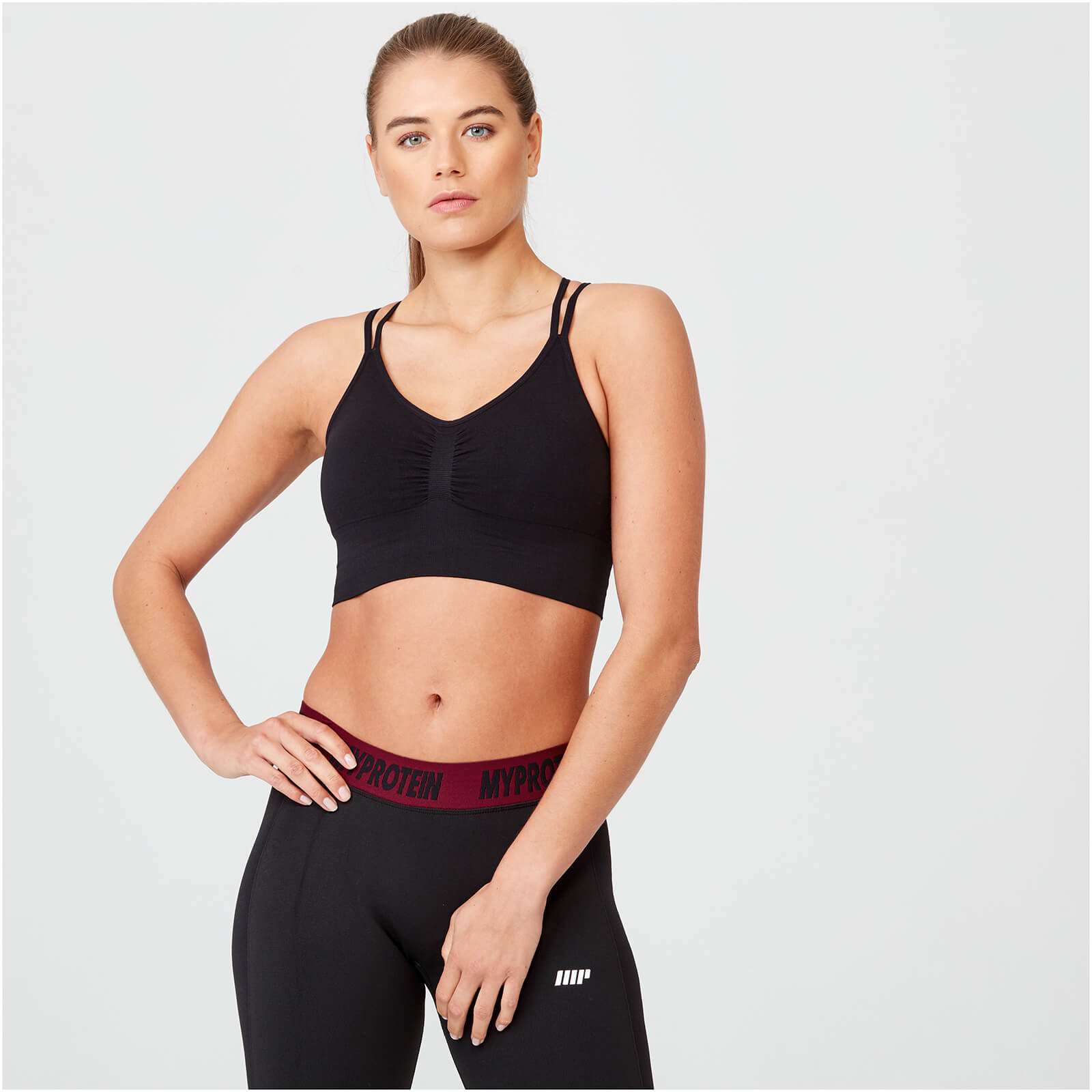 Shape Seamless Sports Bra - Black - XS