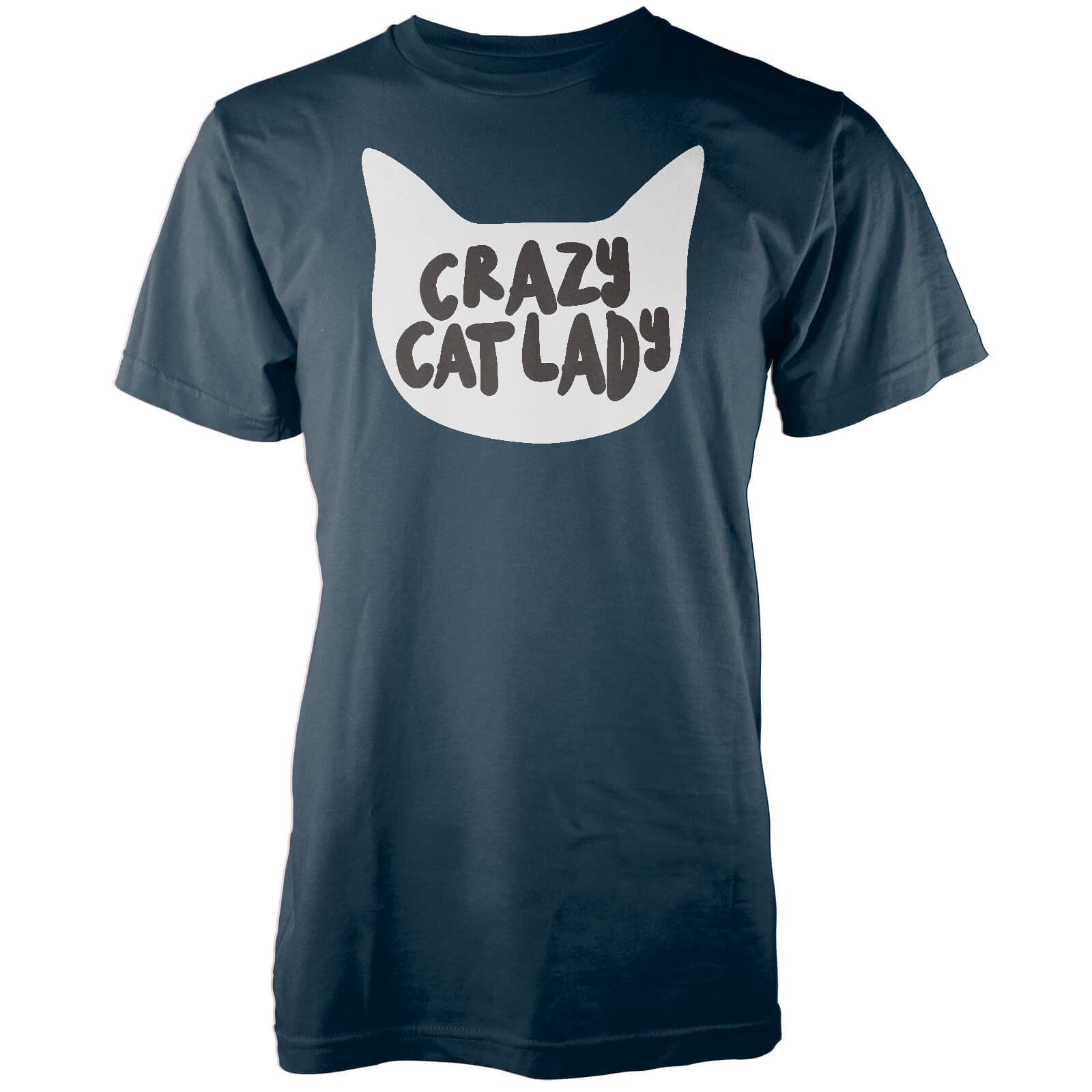 Crazy Cat Lady Navy T-Shirt