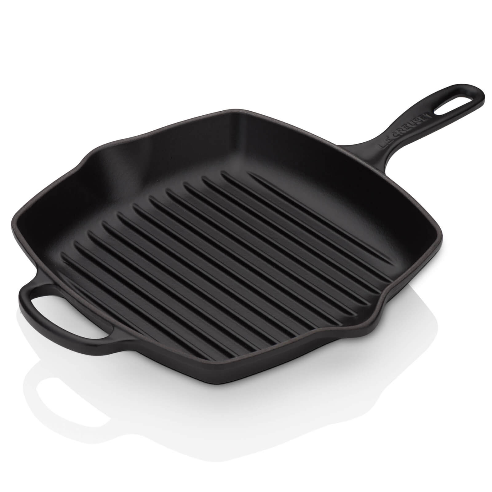 Le Creuset Cast Iron Square Grillit - 26cm - Satin Black