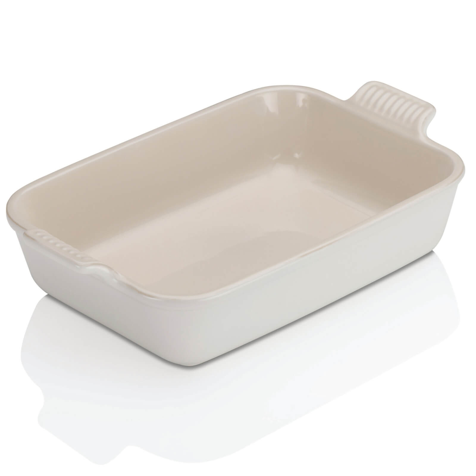 Le Creuset Stoneware Deep Rectangular Dish - 26cm - Cotton