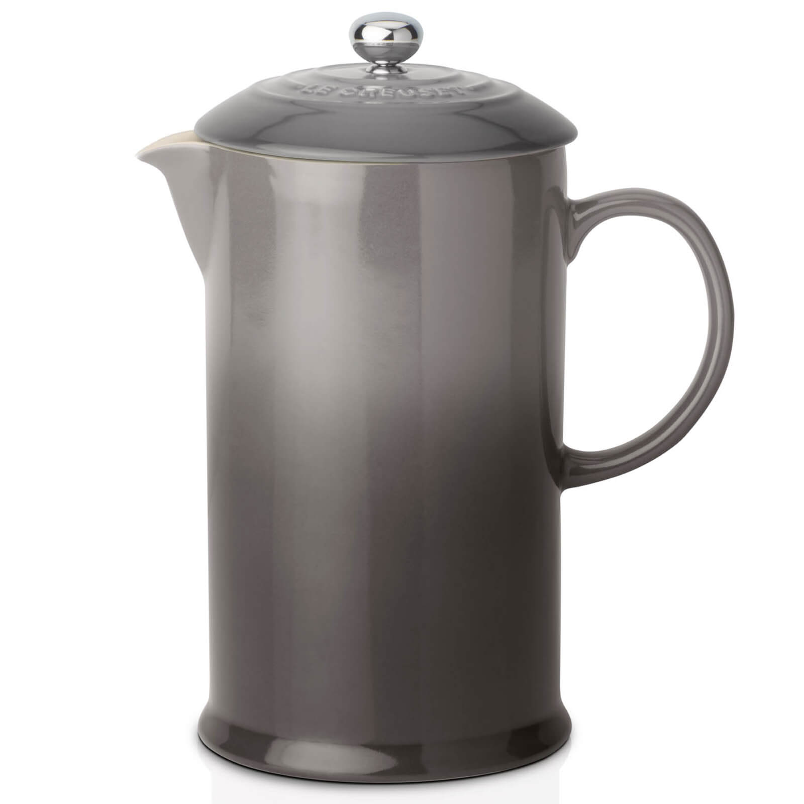Le Creuset Stoneware Cafetiere Coffee Press - Flint