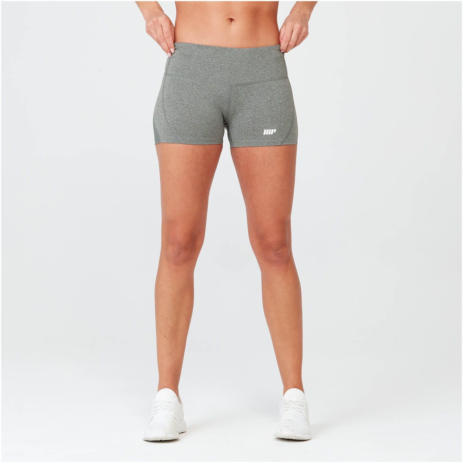 Heartbeat Training Shorts - Grey Marl - XL