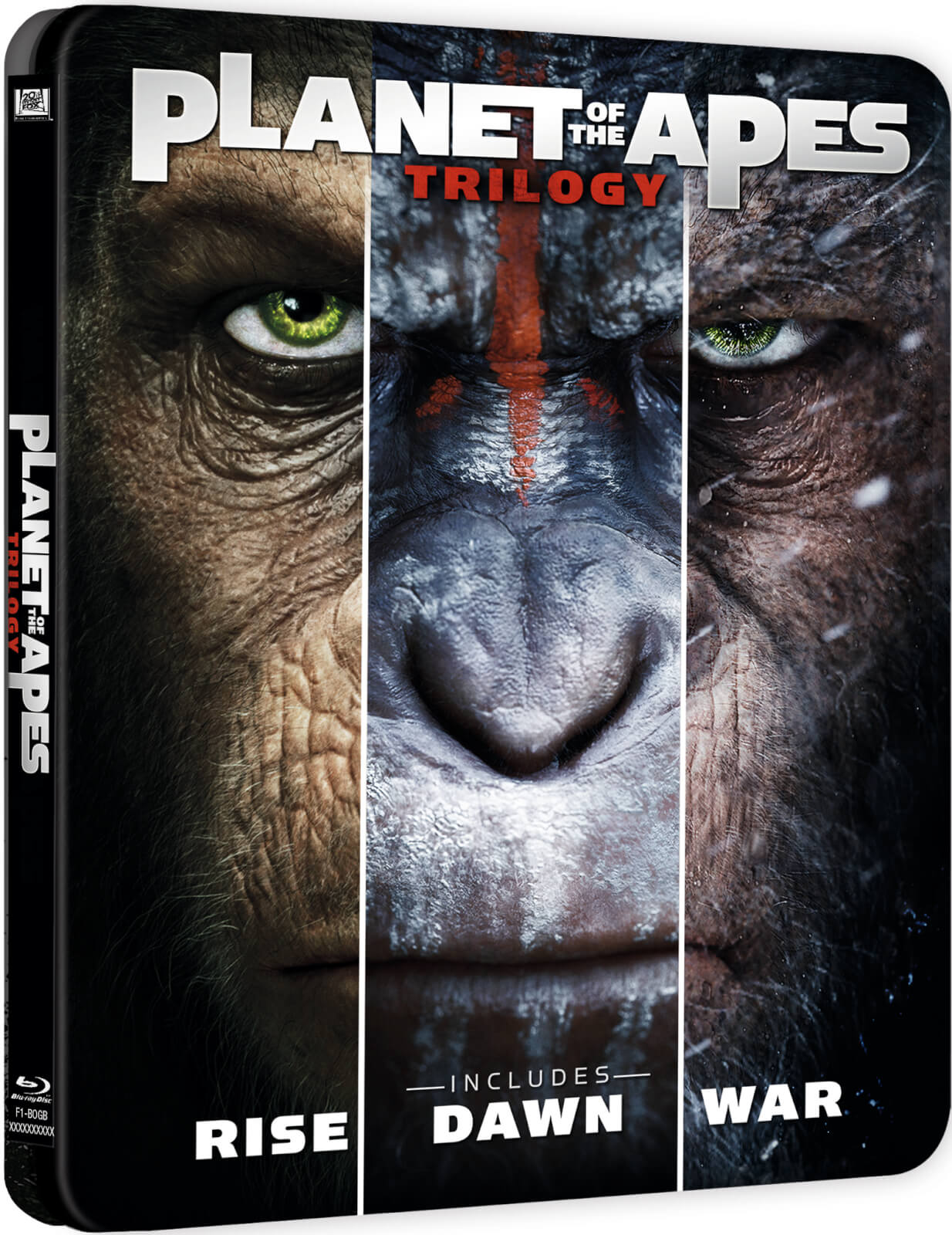 Planet Of The Apes Triple - Zavvi Exclusive Limited Edition Steelbook