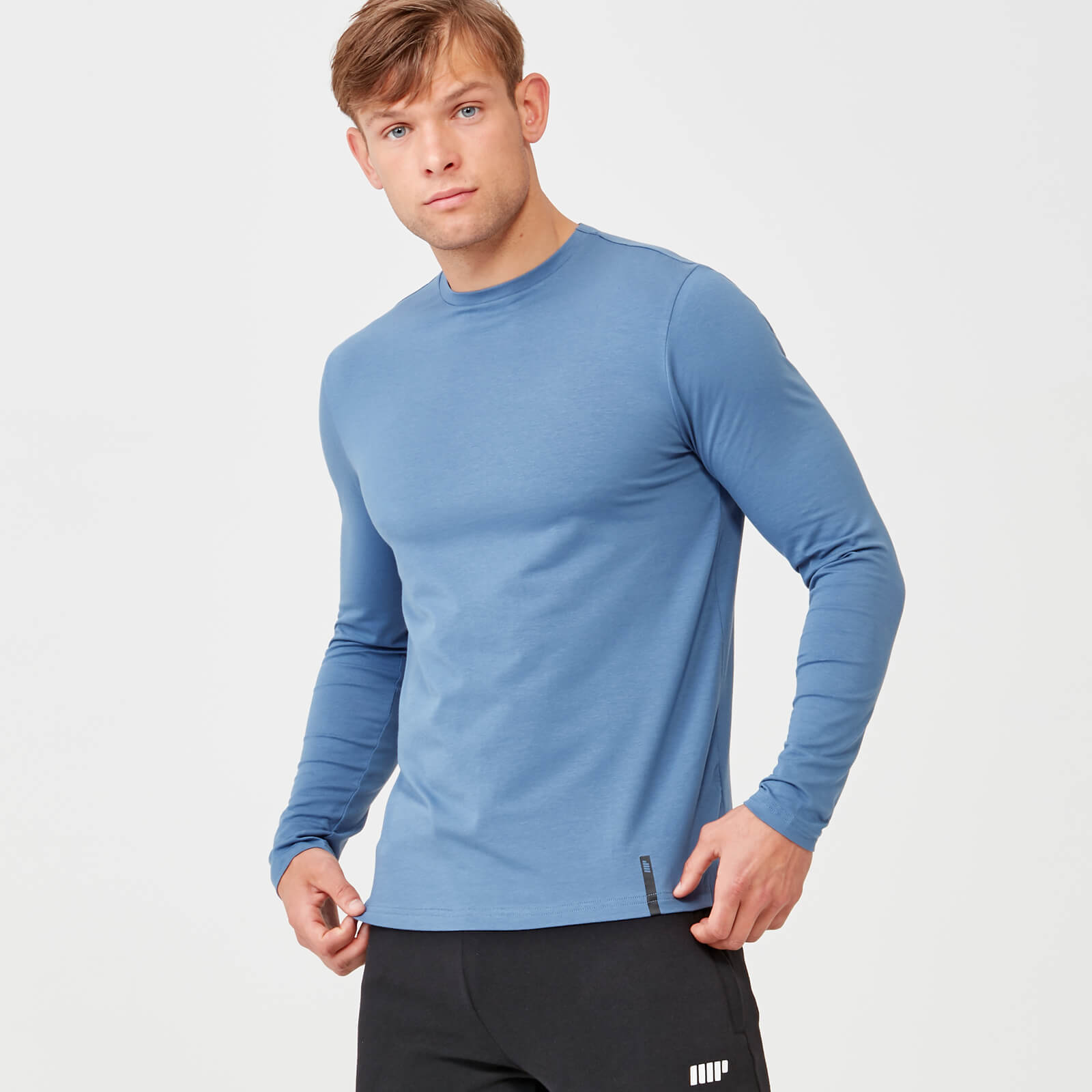 Myprotein Luxe Classic Long Sleeve Crew - Blue - S