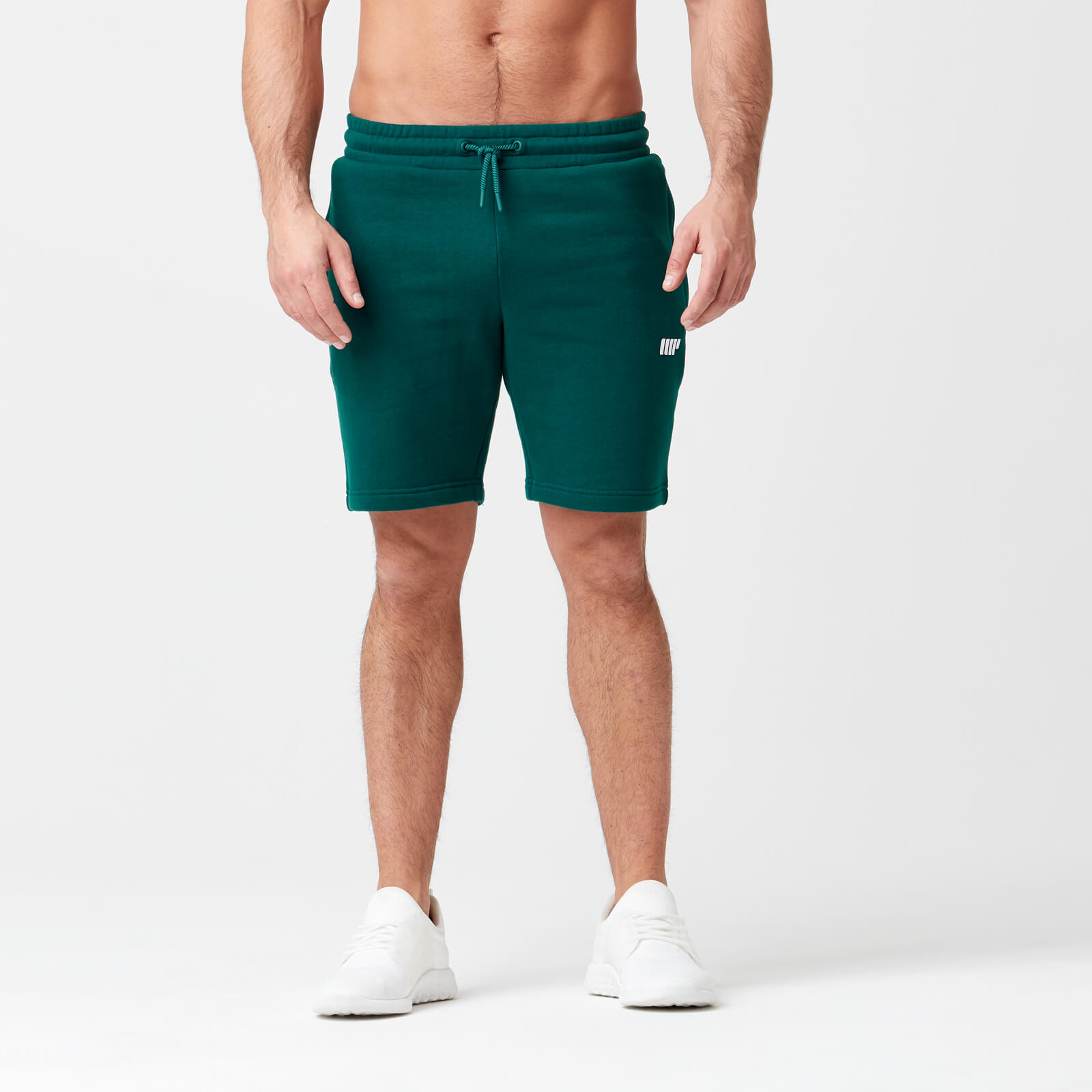 Myprotein Tru-Fit Zip Sweatshorts - Dark Green - S