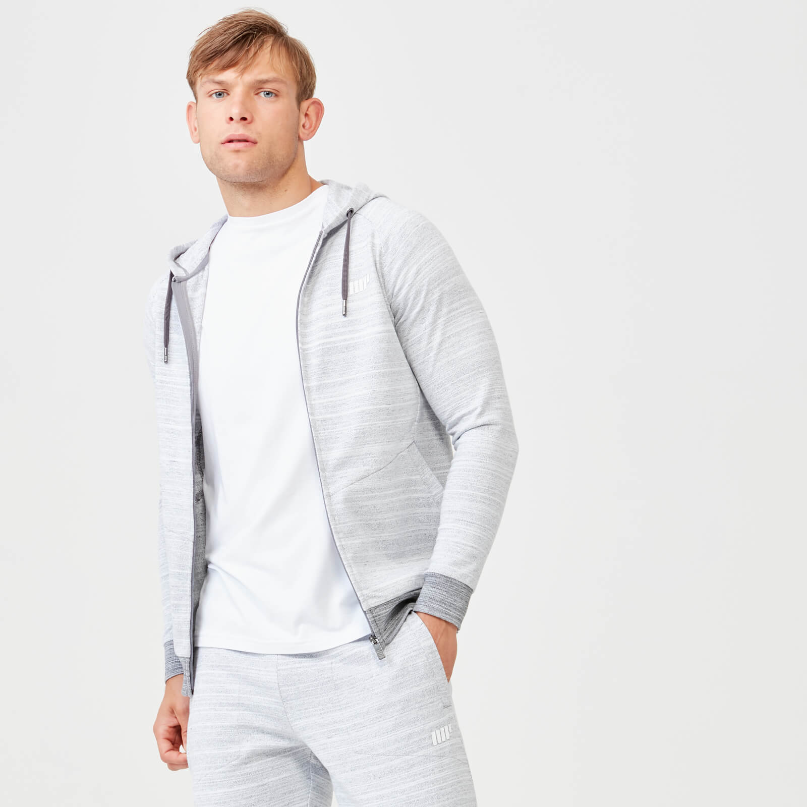 Swift Zip Up Hoodie - Grey Marl - S