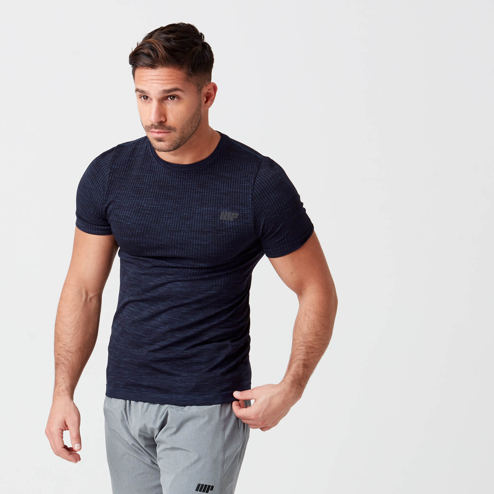 Sculpt Seamless T-Shirt - Navy - S