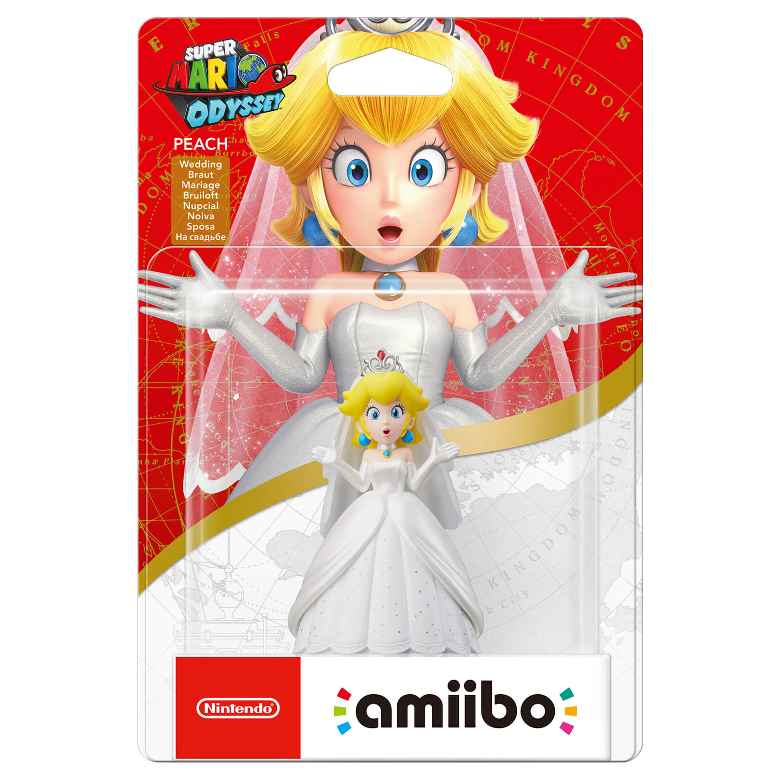 Peach Wedding Outfit Amiibo Super Mario Collection